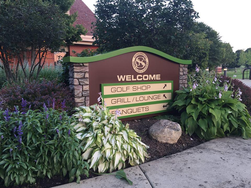 Golf Club & Academy Monument Sign