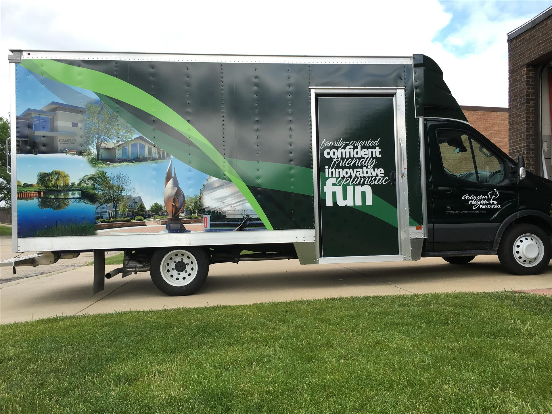 Arlington Heights Park District Vehicle Wrap Side