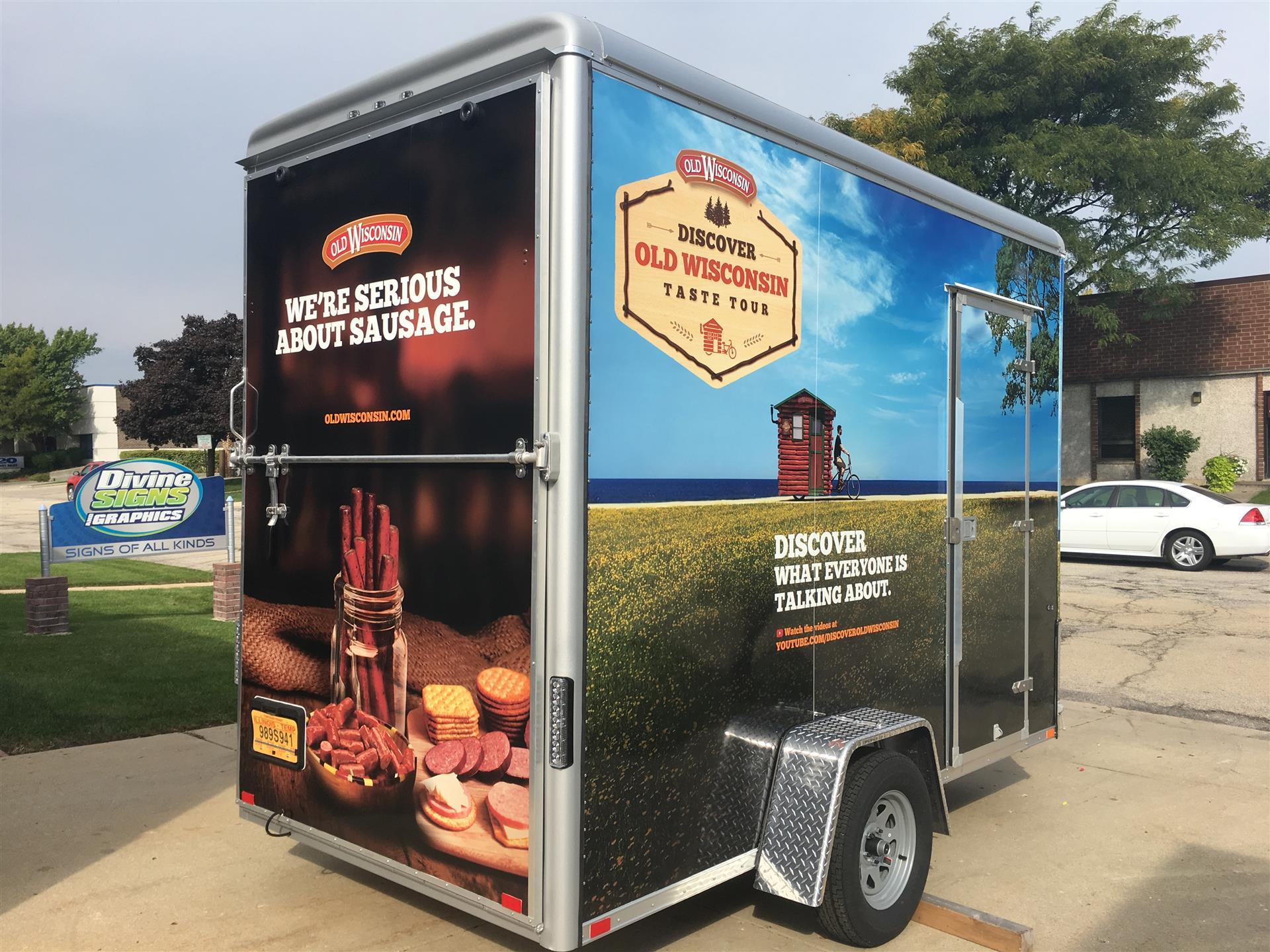 Discover Wisconsin Trailer WrapBest Truck in BBQ Truck WrapDiscover Wisconsin Trailer Wrap