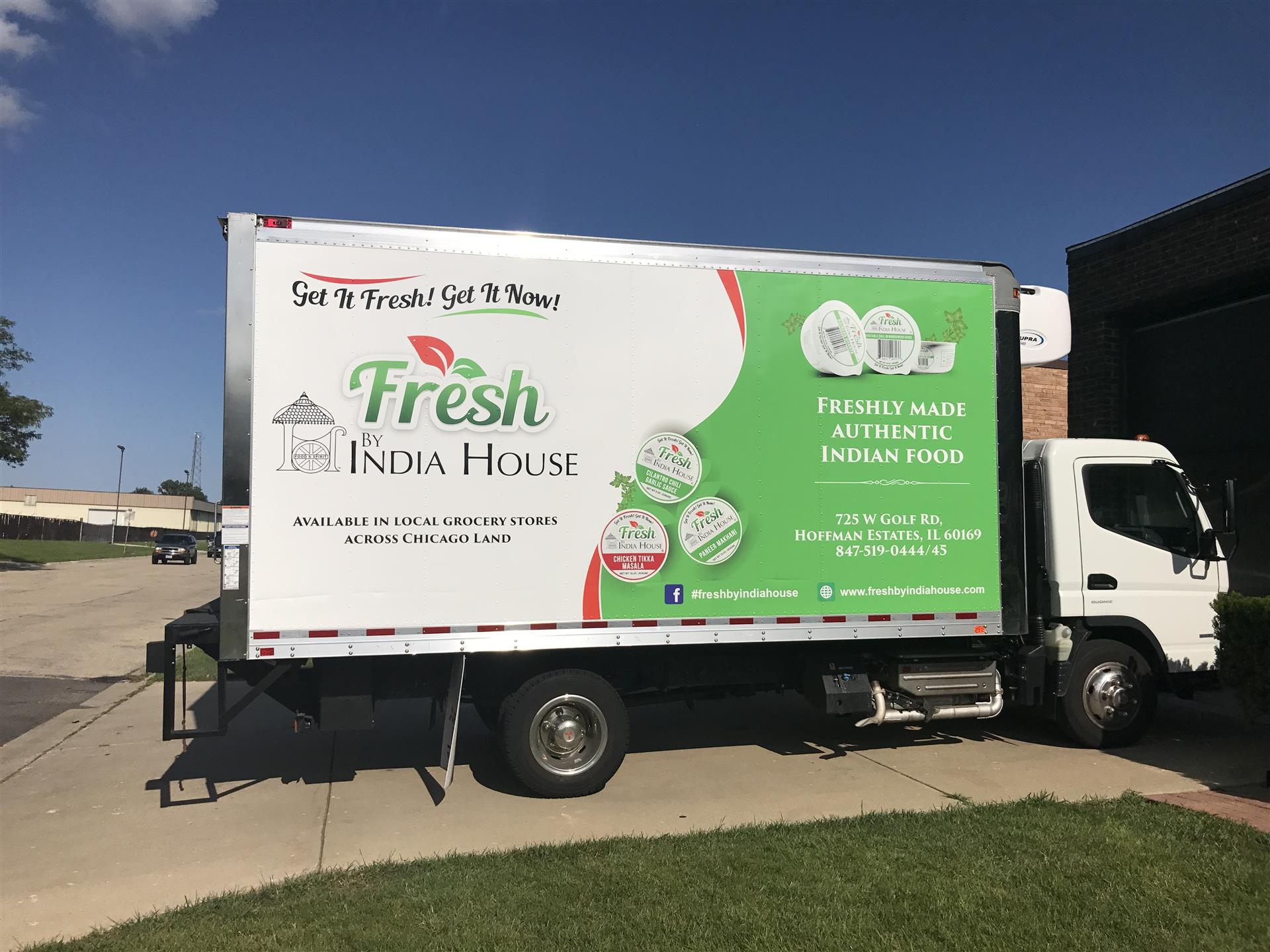 Fresh India House Truck Sign
