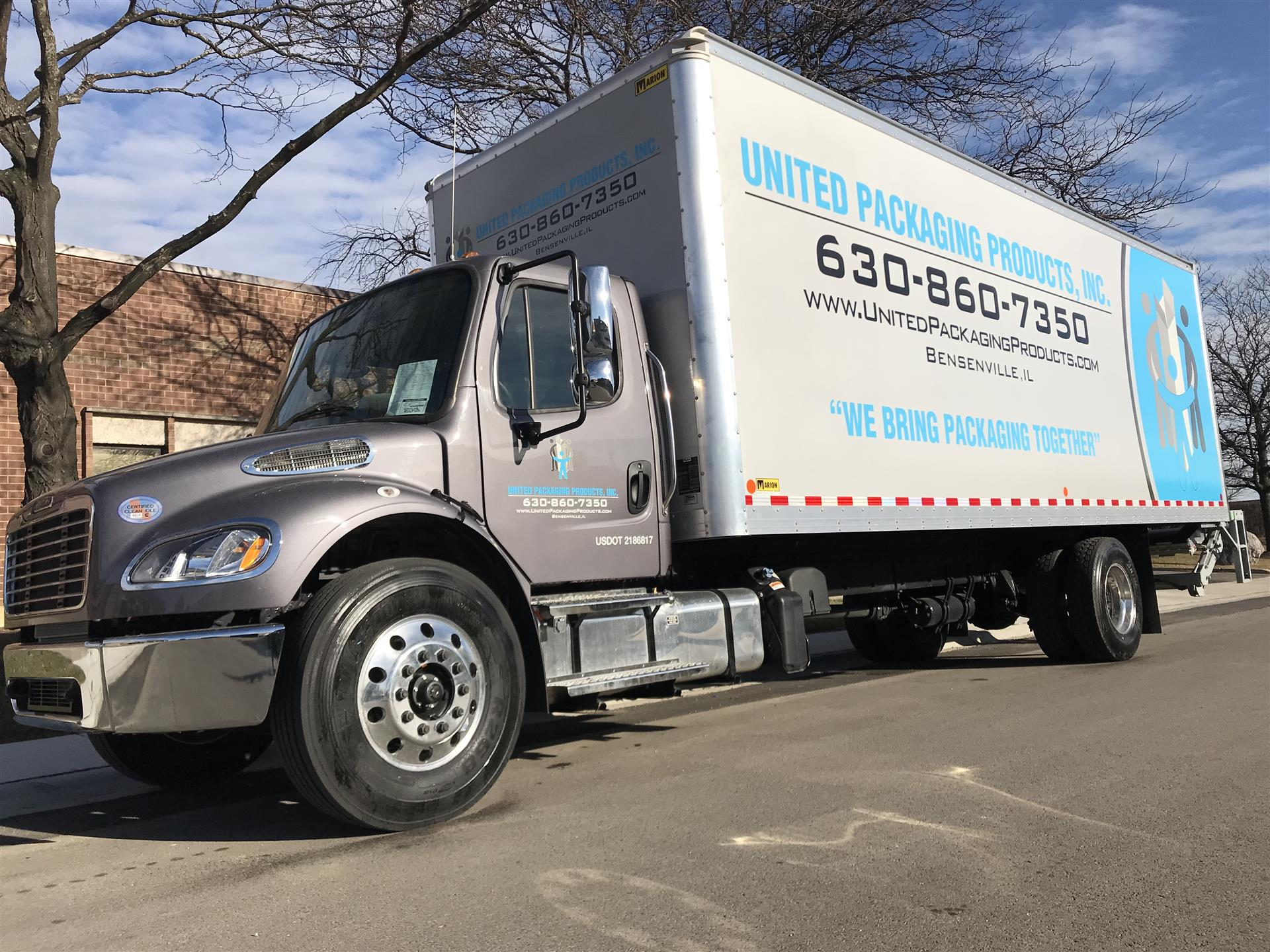 United Packaging Products Truck Wrap