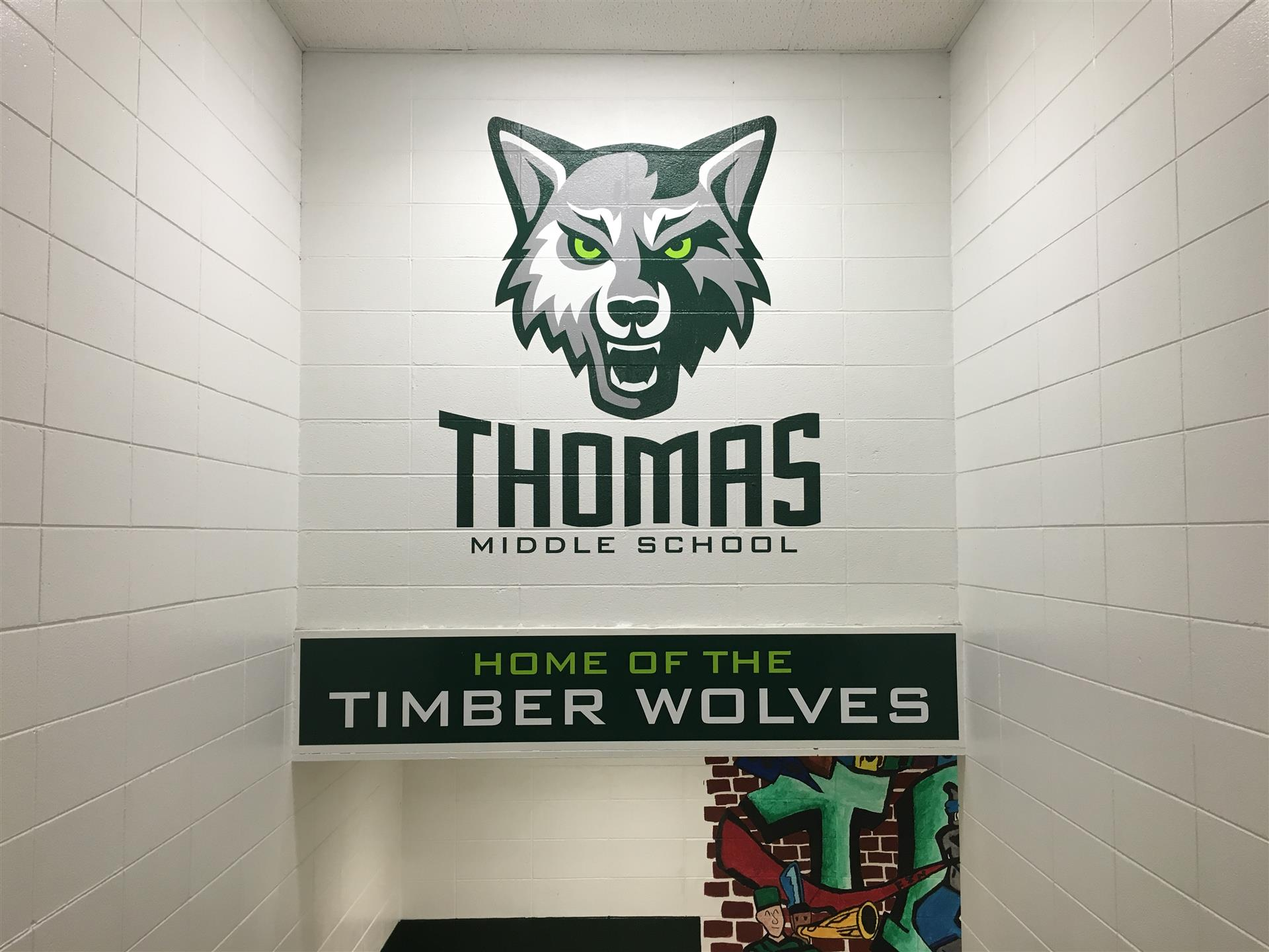 Thomas Middle School Wall Sign