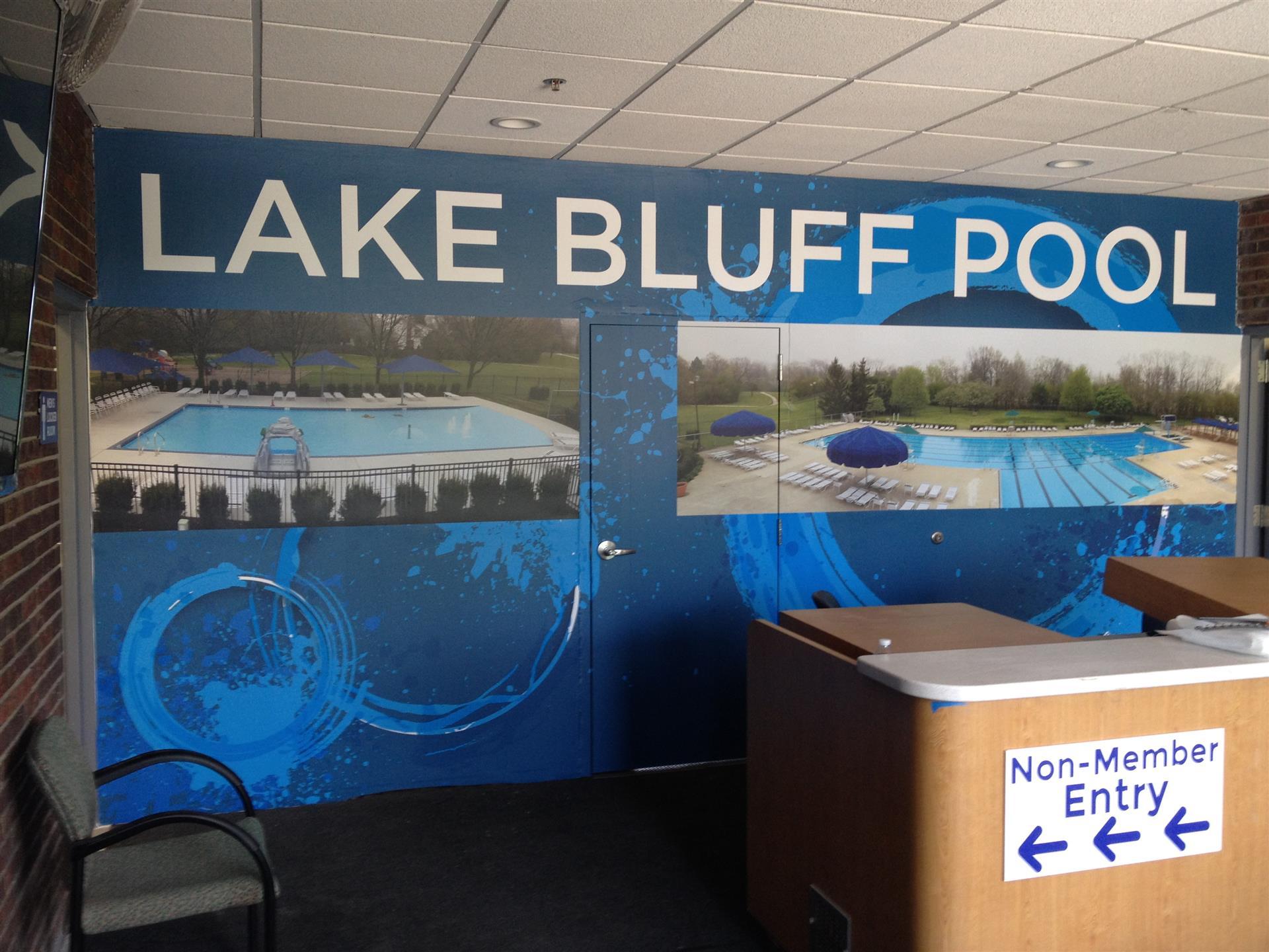 Lake Bluff Pool Wall Sign
