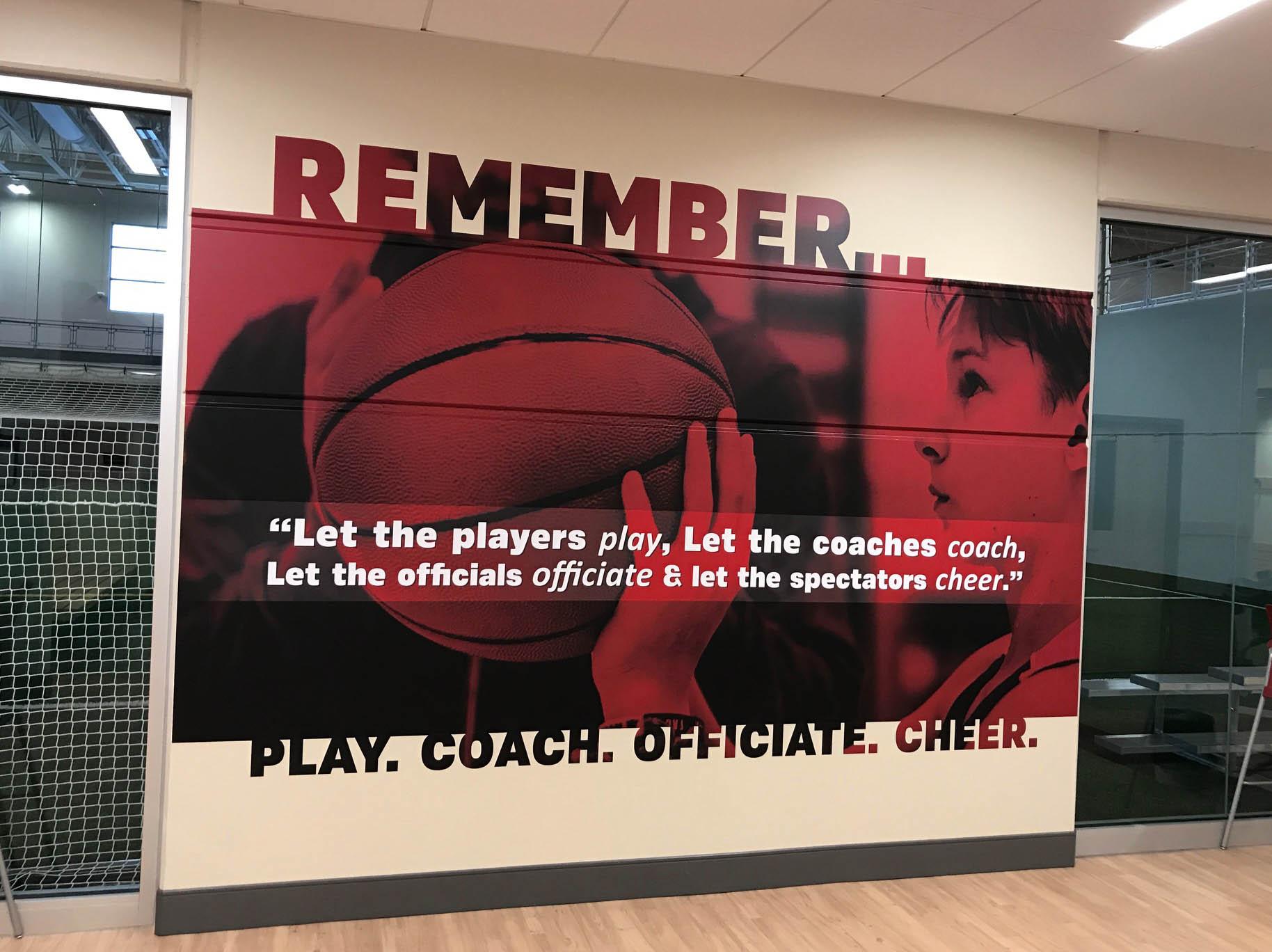 Sports Basketball Wall Sign