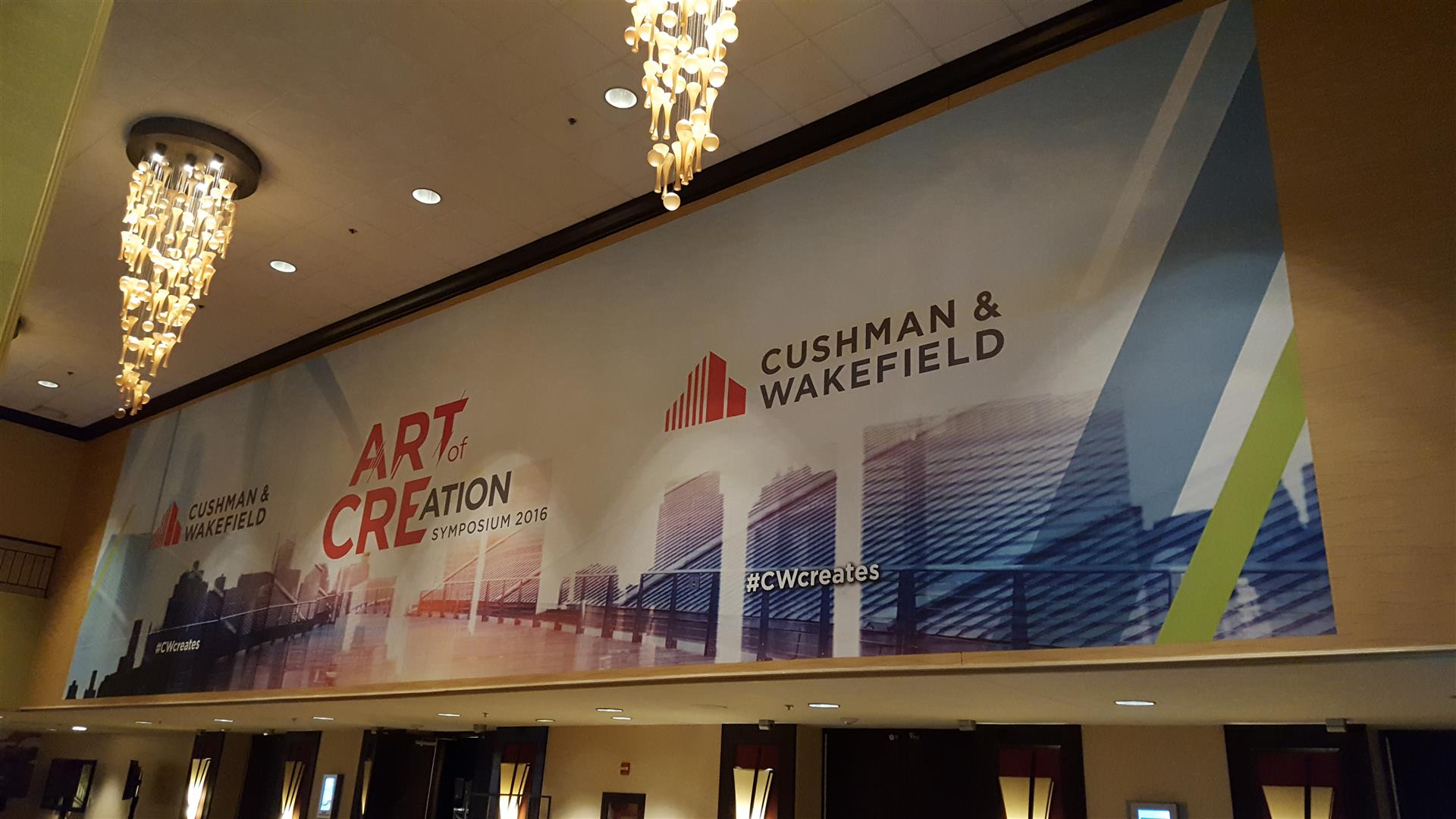 Cushman & Wakefield Wall Sign