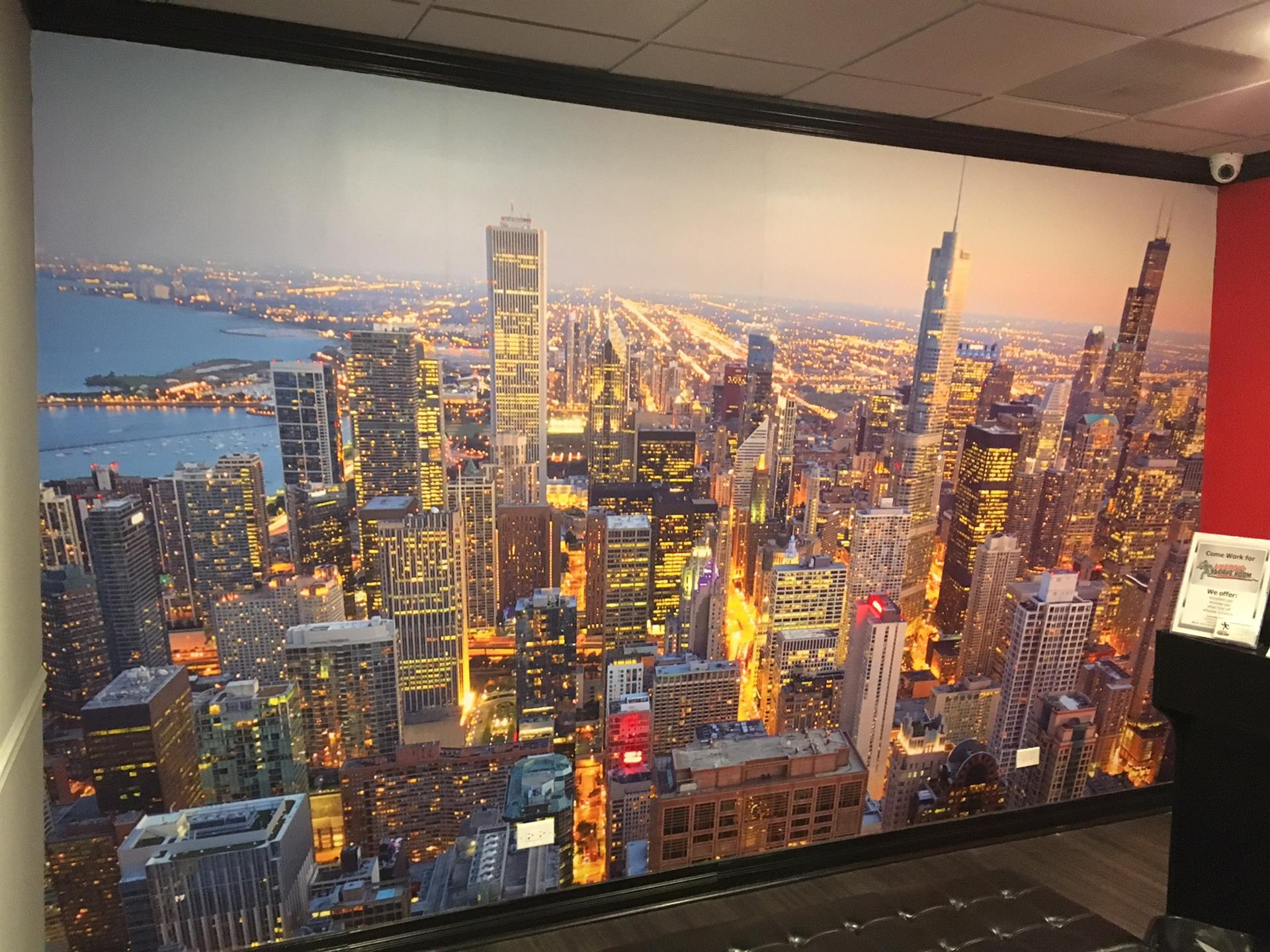 City of Chicago Skyline Wall Sign