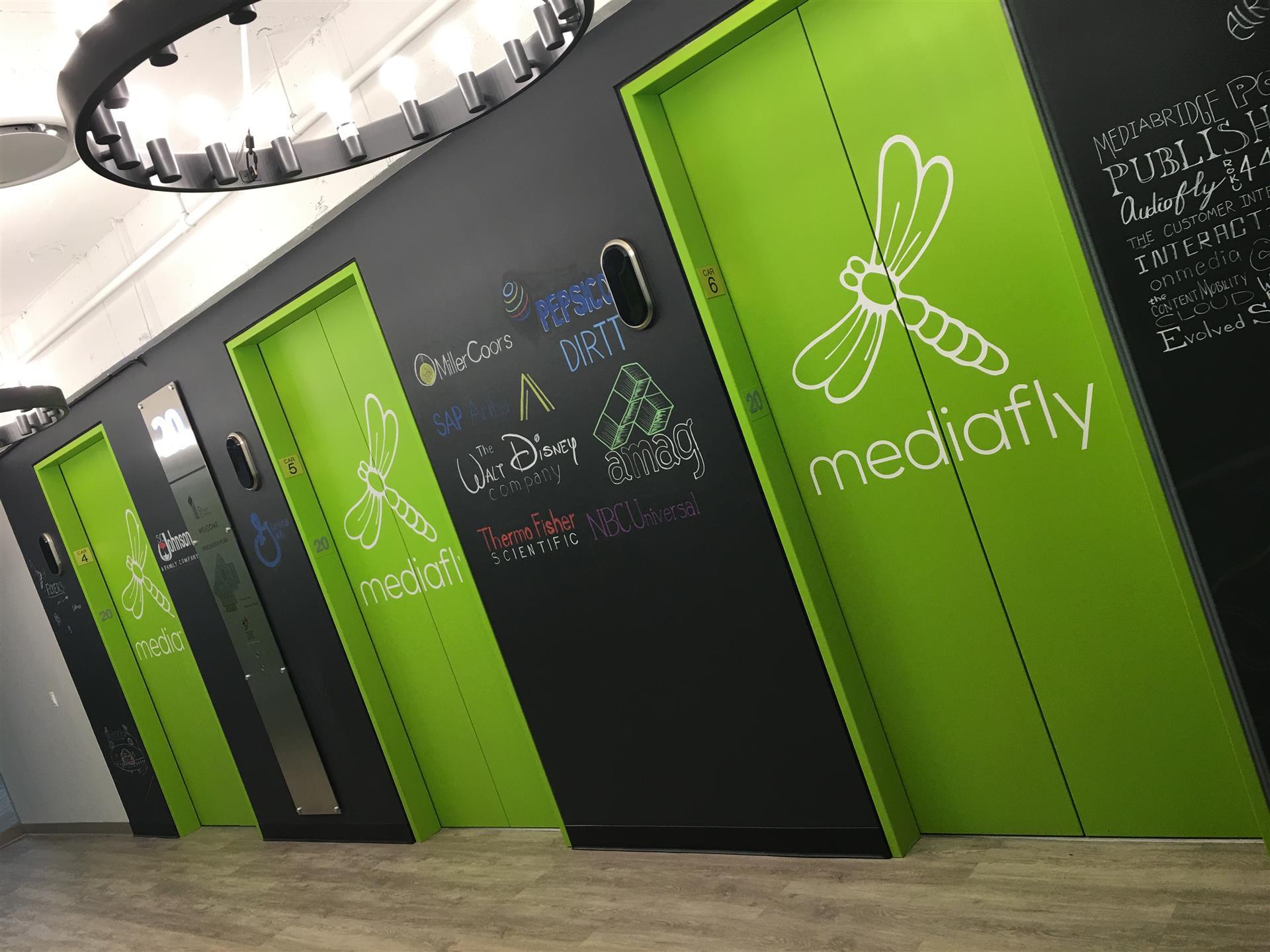 Mediafly Elevator Wraps