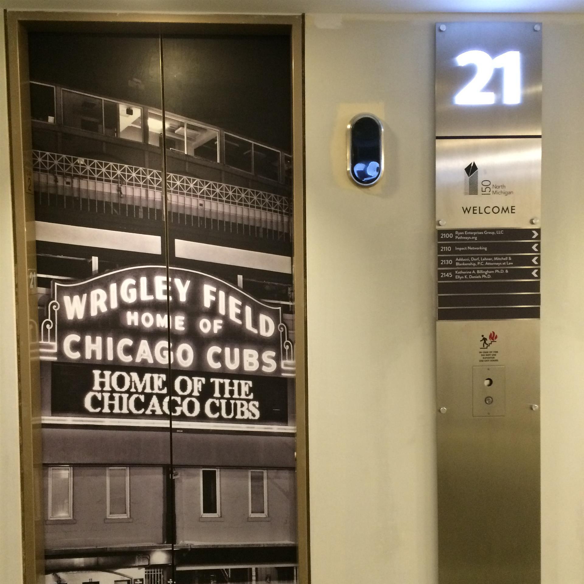 Wrigley Field Elevator Wrap