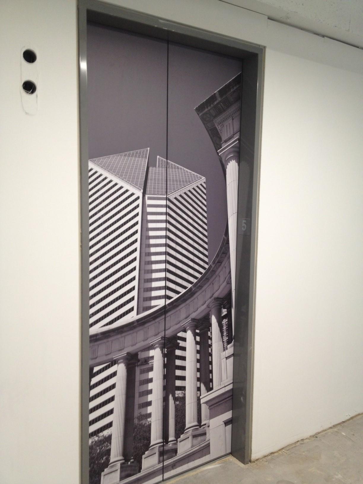 Chicago Building Elevator Wrap