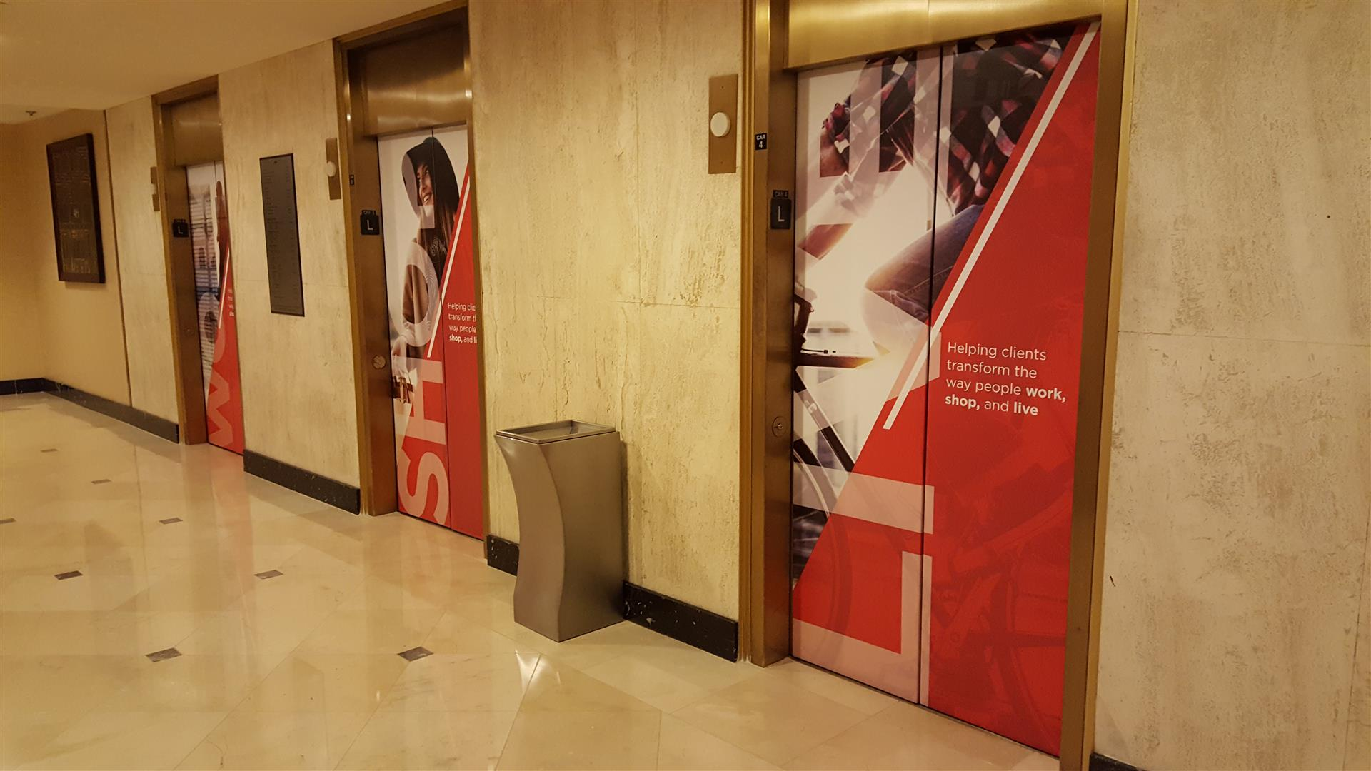 We Can Wrap Anything!: Elevator Graphics