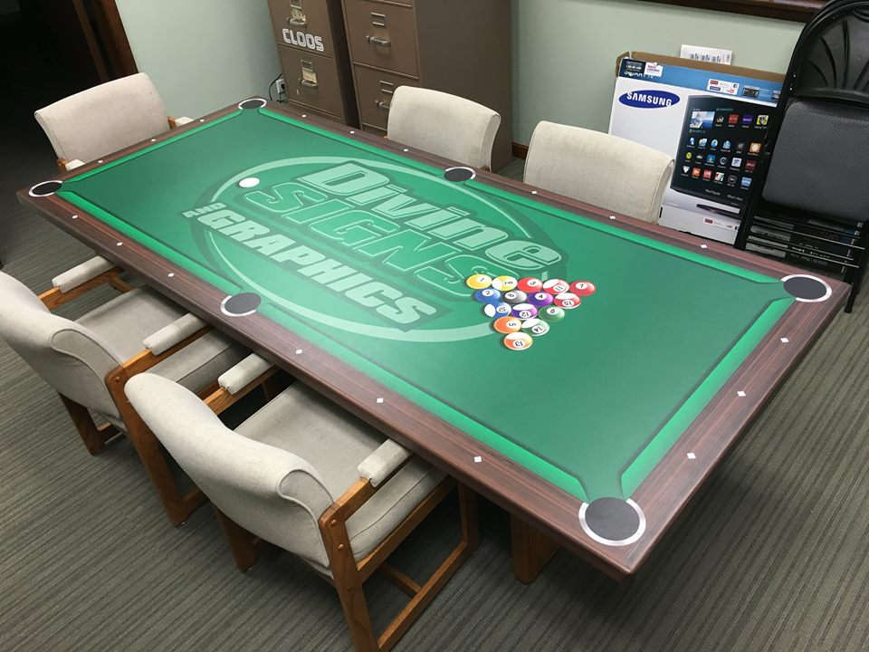 Divine Signs and Graphics Pool Table Sign
