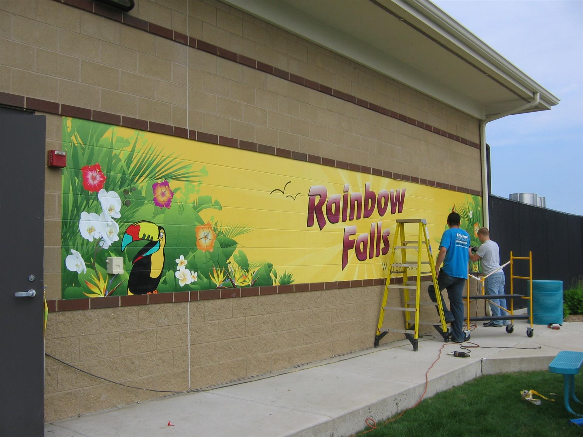 Rainbow Falls Exterior Sign Installation