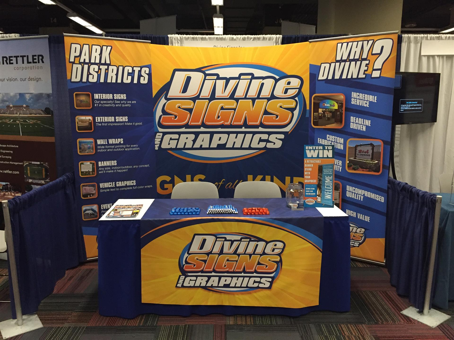 Divine Signs & Graphics Trade Show Display