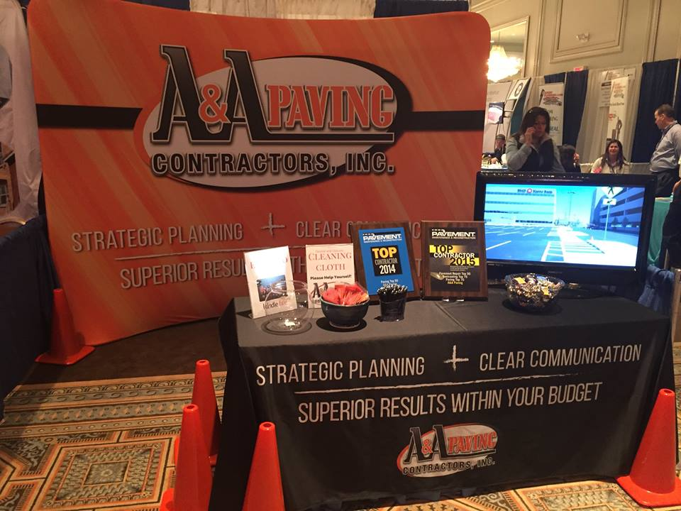 A&A Paving Contractors Trade Show Display