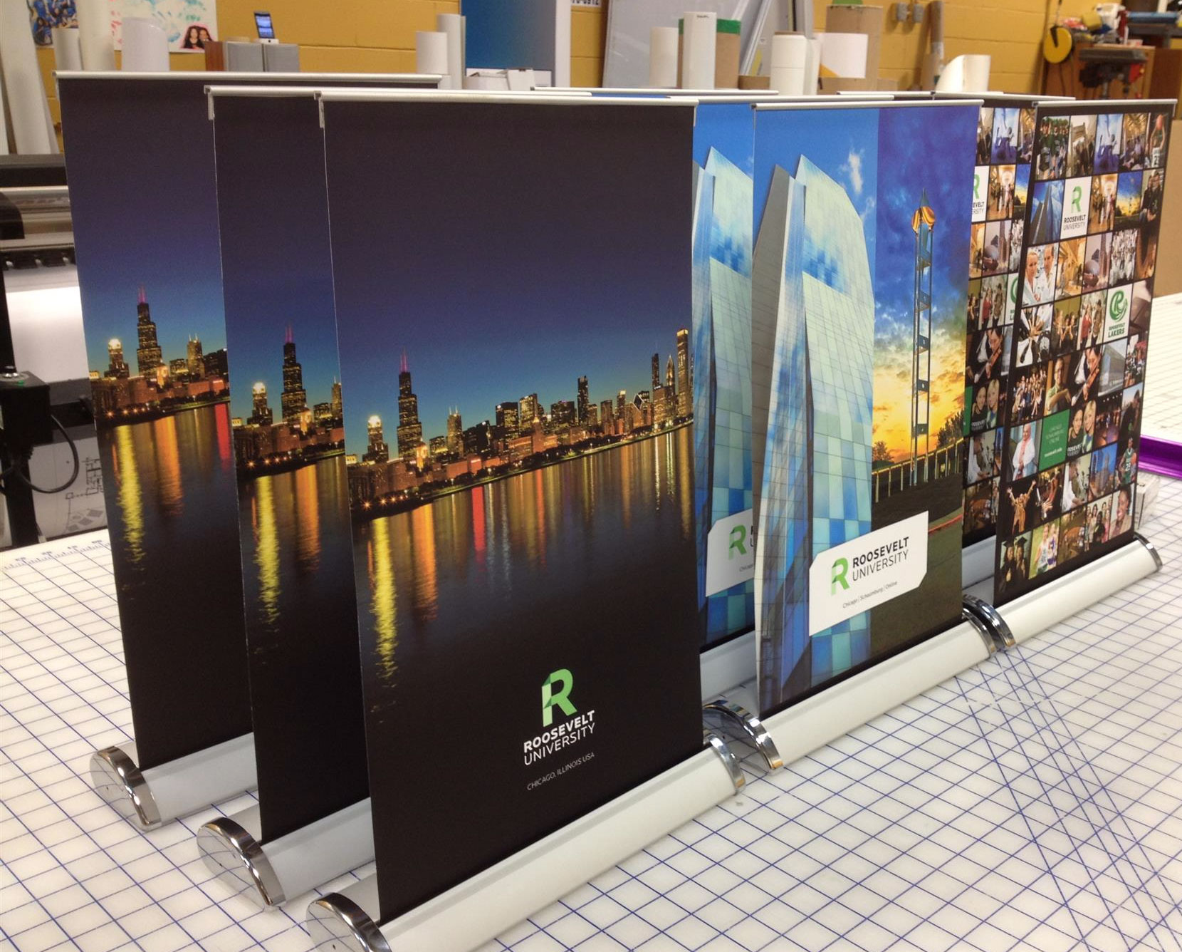 Roosevelt University Sign Stand