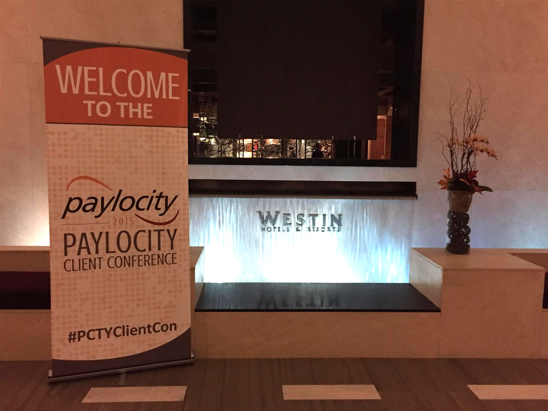 Paylocity Sign Stand at Westin Hotel