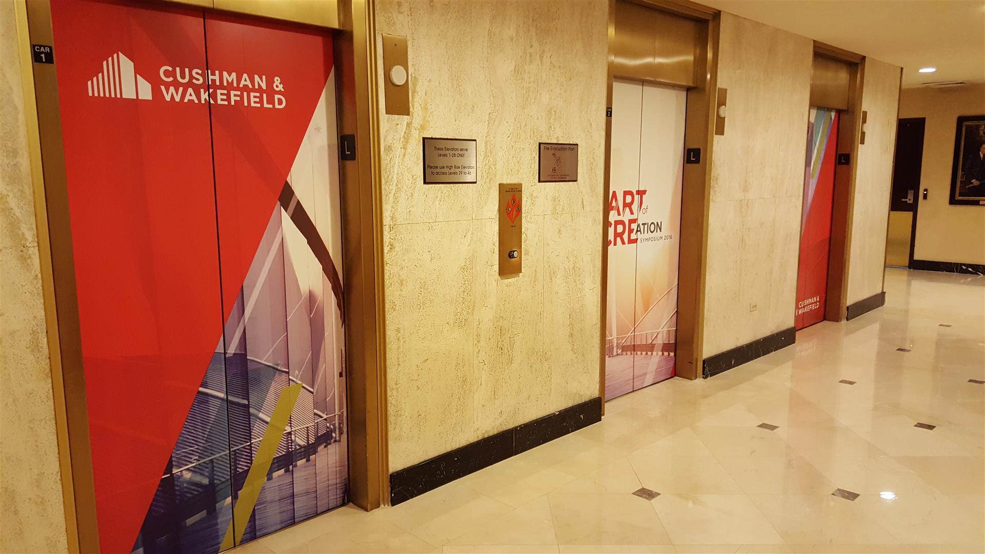 Cushman & Wakefield Elevator Signs