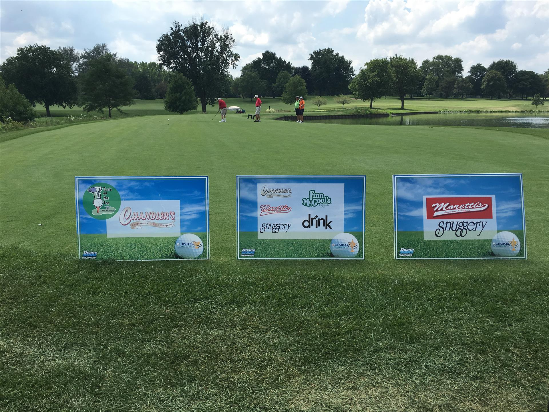 Golf Outing Sponsor Signs
