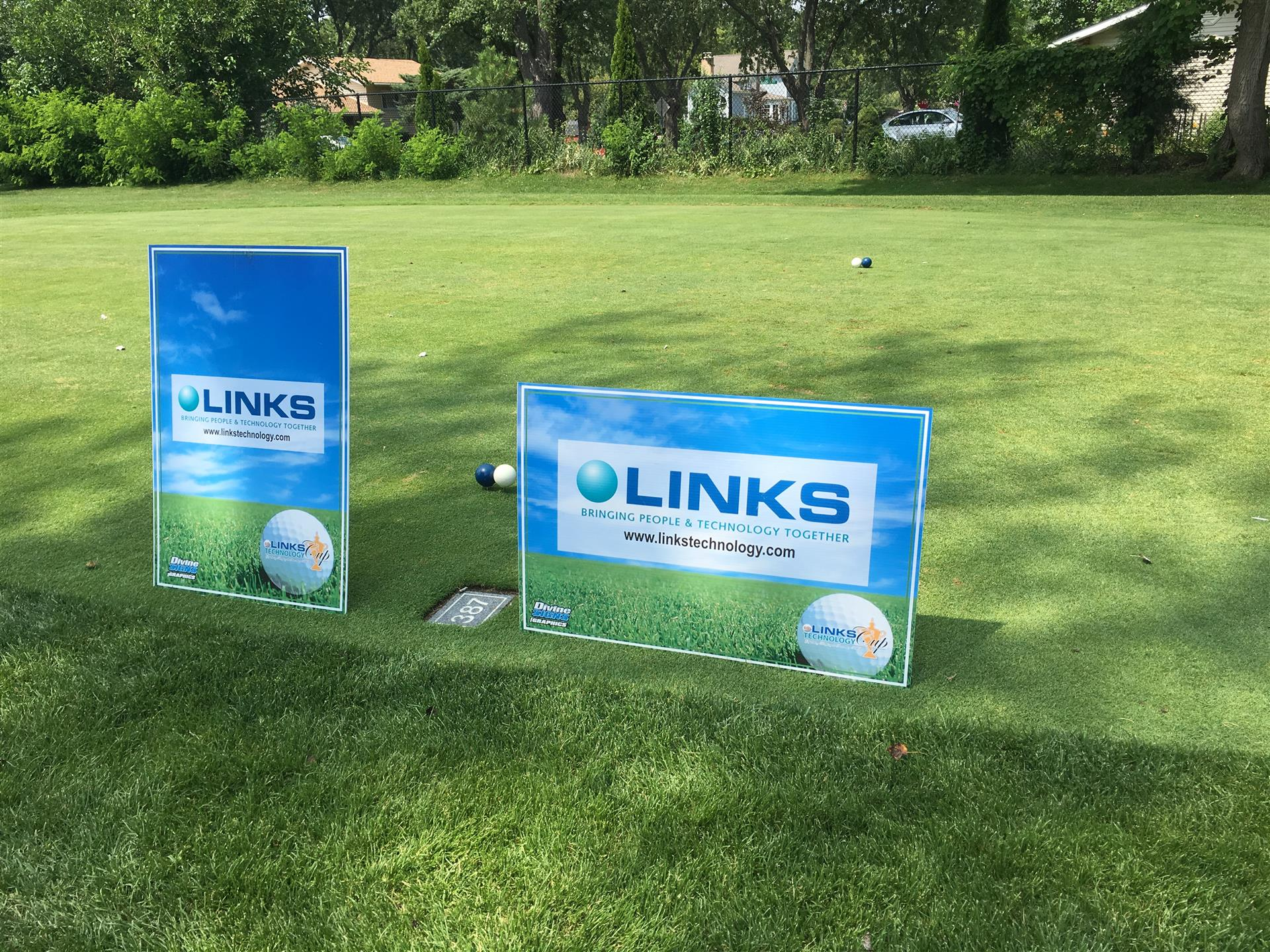 Golf Outing Links Technology Special Event Sign