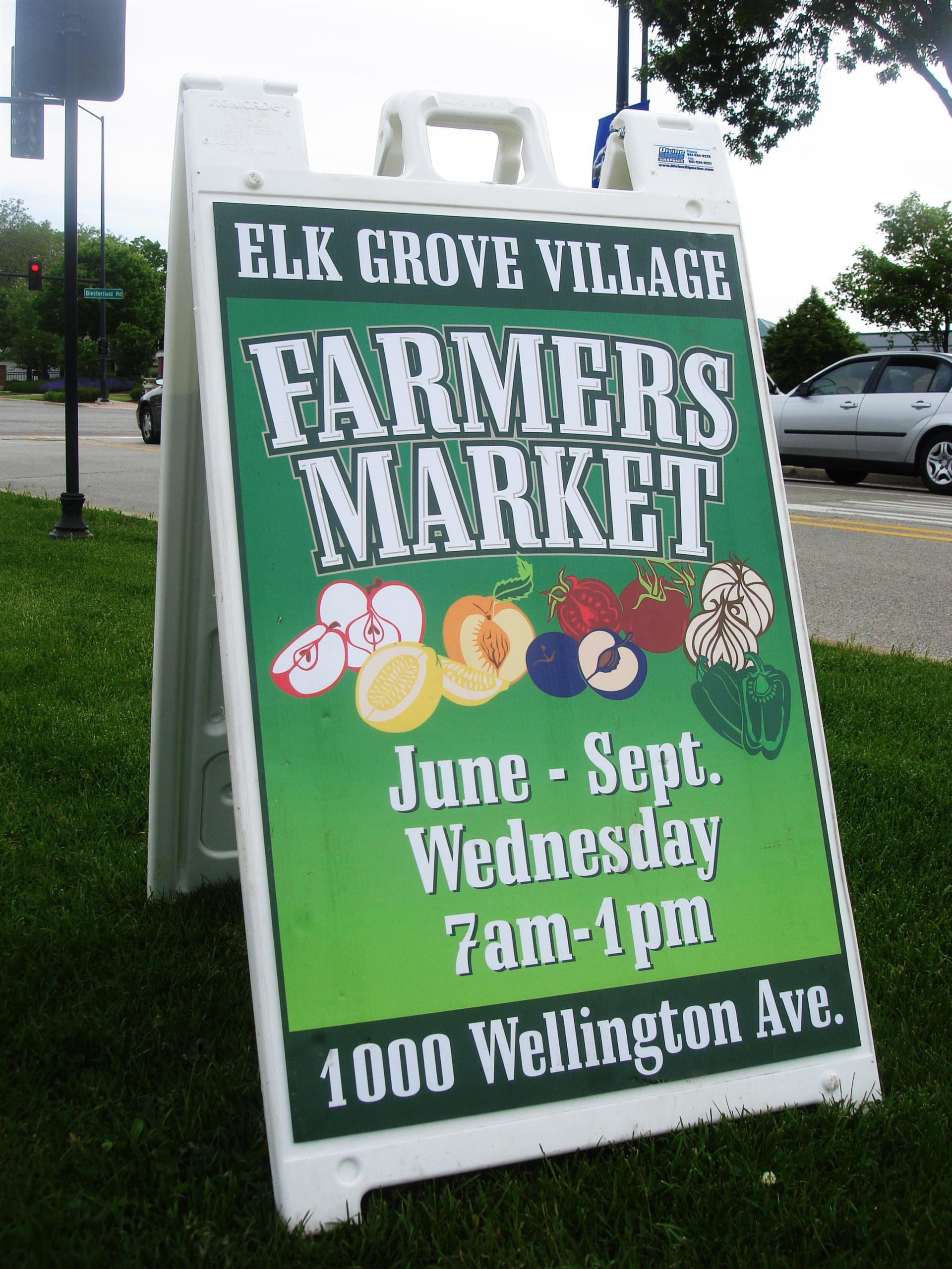 Farmer's Market Special Event Sign