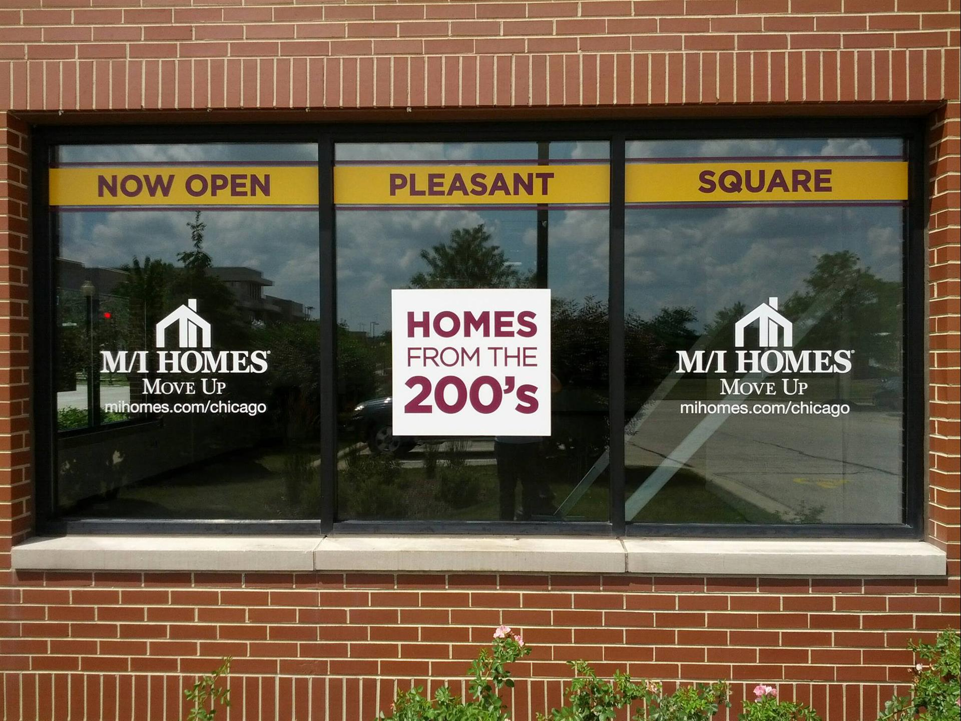 M/I Homes Storefront Graphic