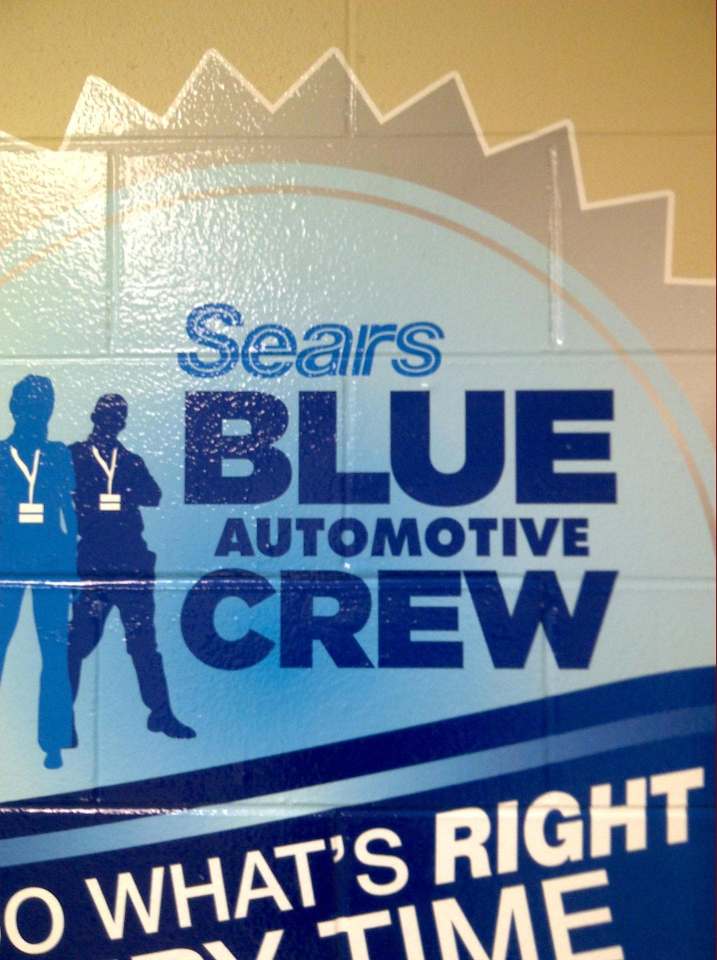 Sears Blue Automotive Crew Wall Wrap