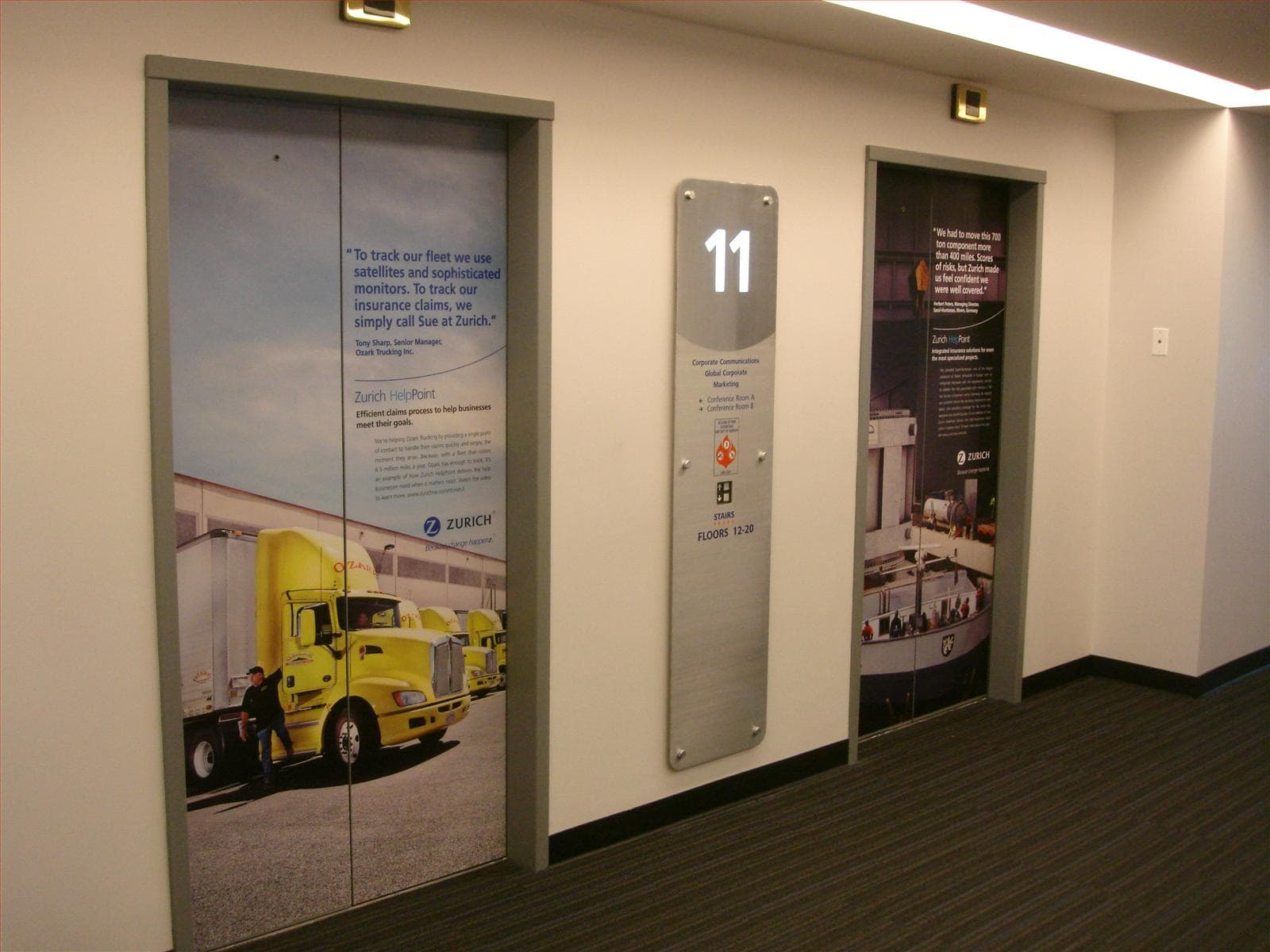 Yellow Truck Elevator Wrap