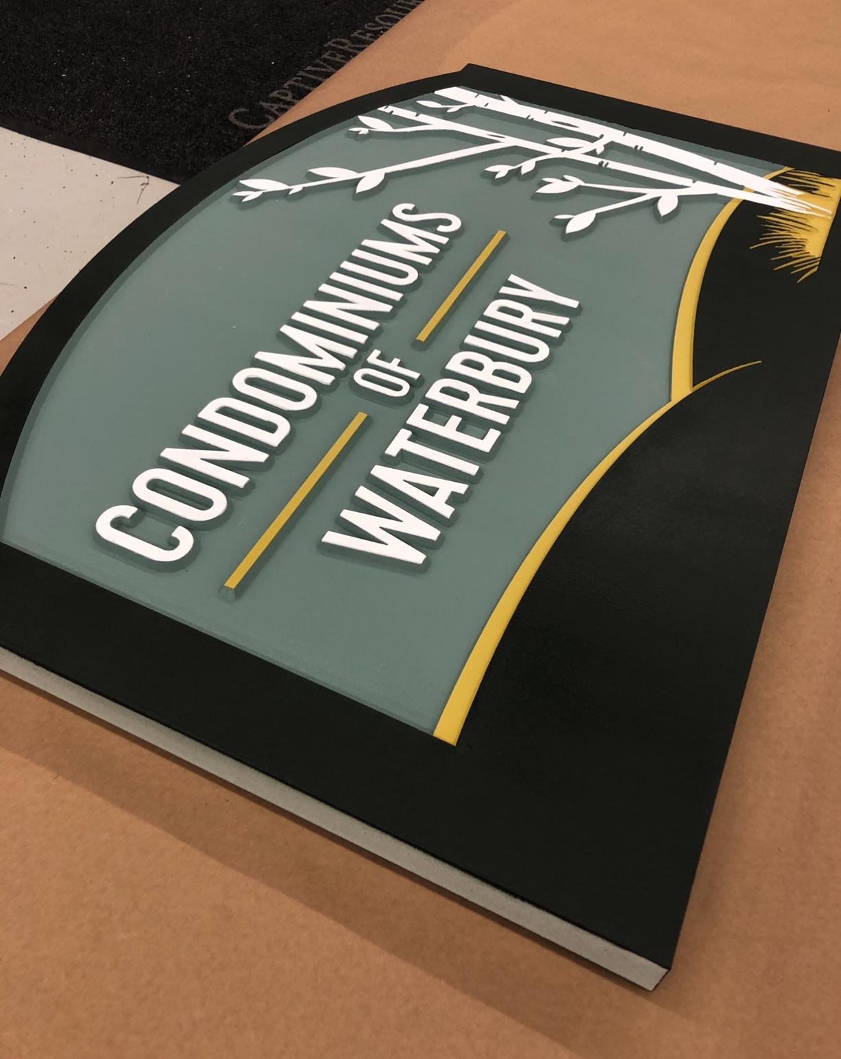 Condominiums of Waterbury Colored HDU Sign