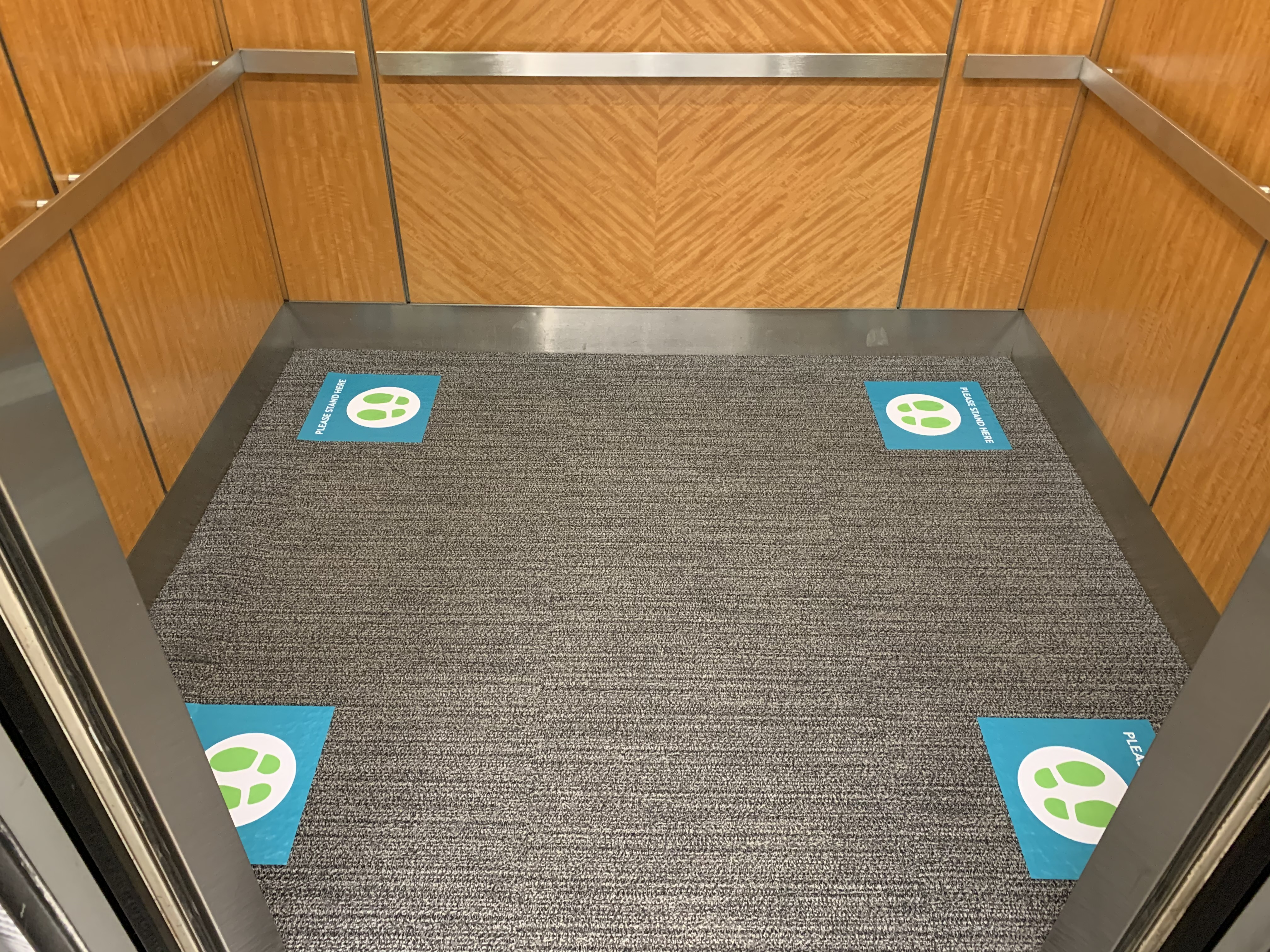 Elevator Social Distancing Sign