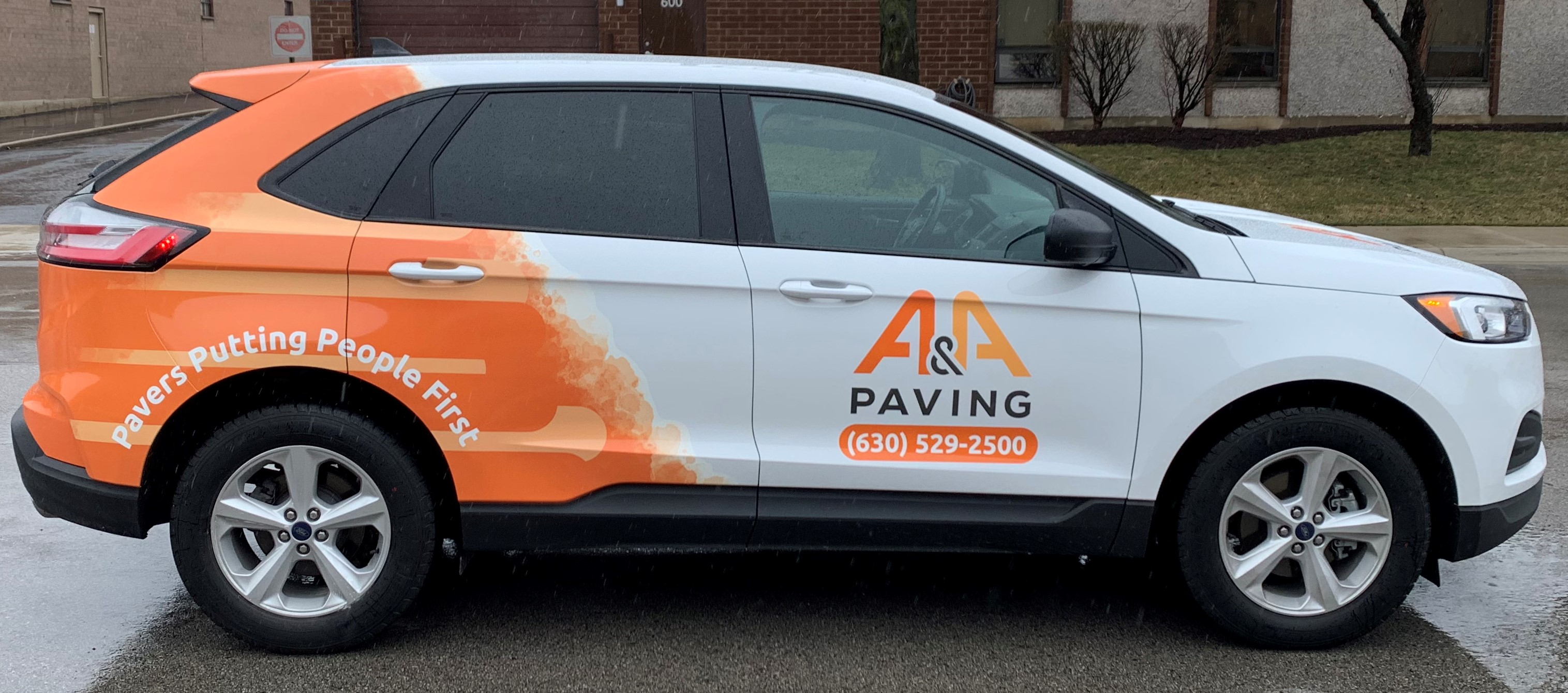 A&A Paving Vehicle Wrap