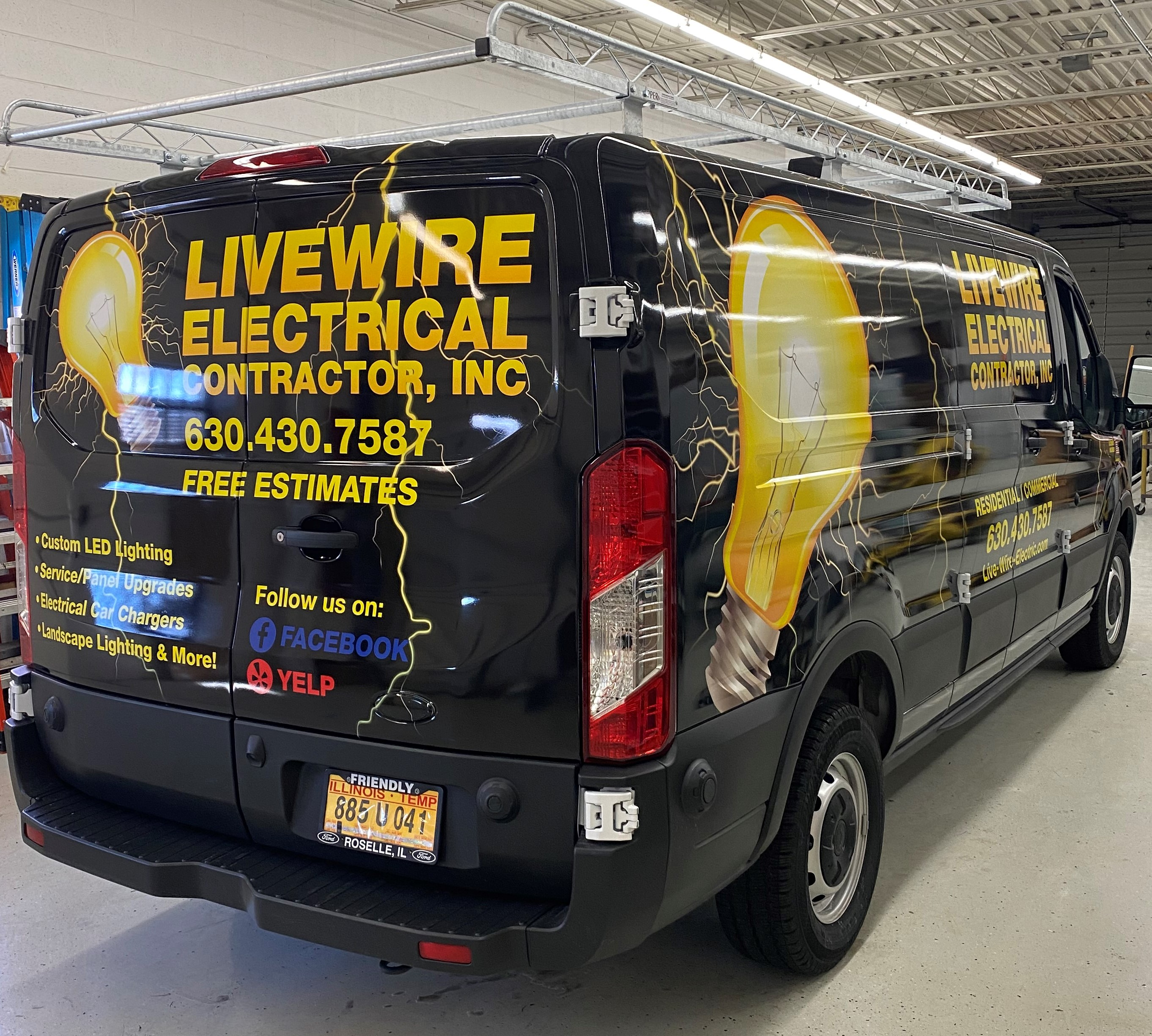 Livewre Electrical Contractor, Inc. Vehicle Wrap
