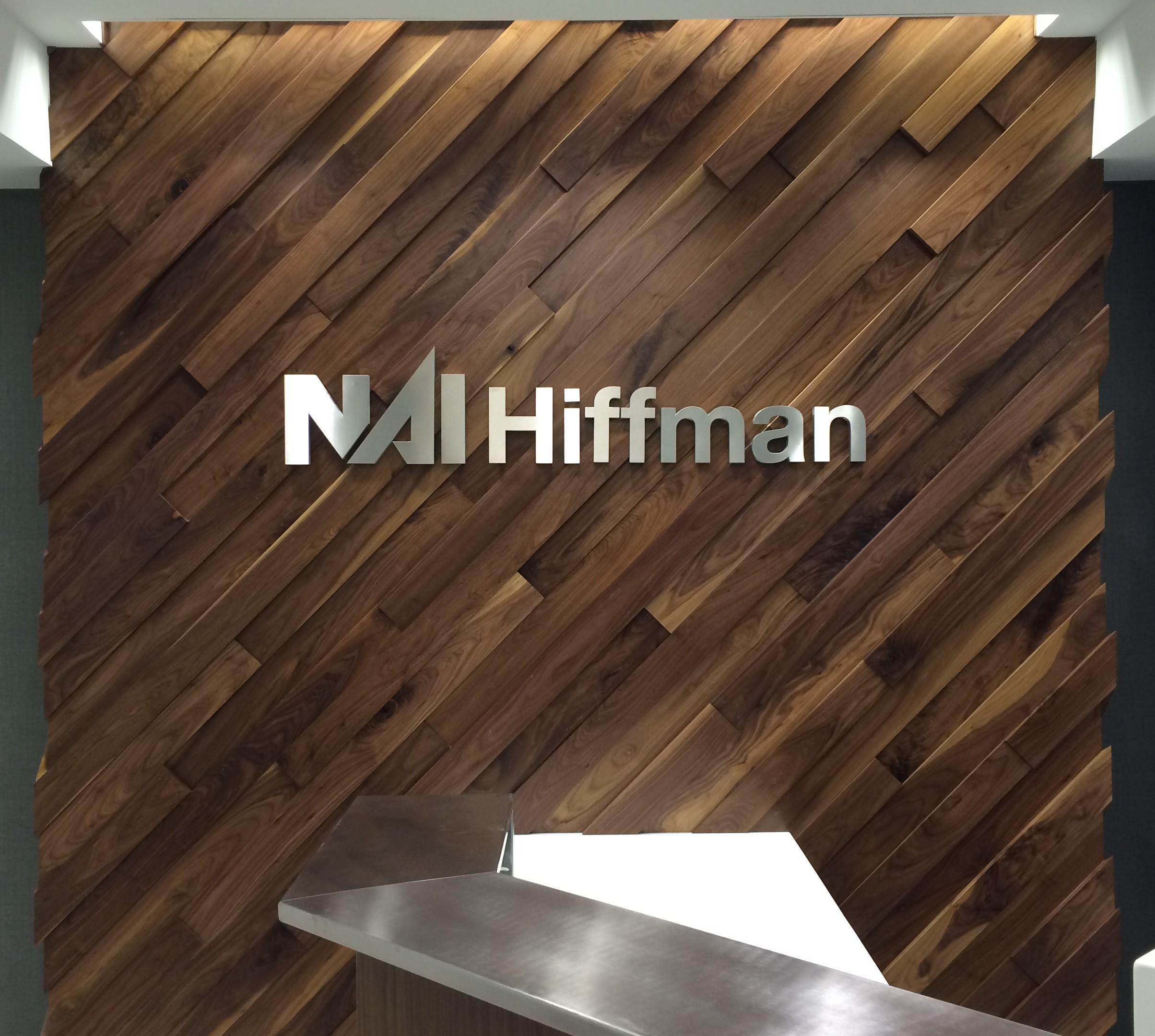 NAI Hiffman Metal Lobby Sign