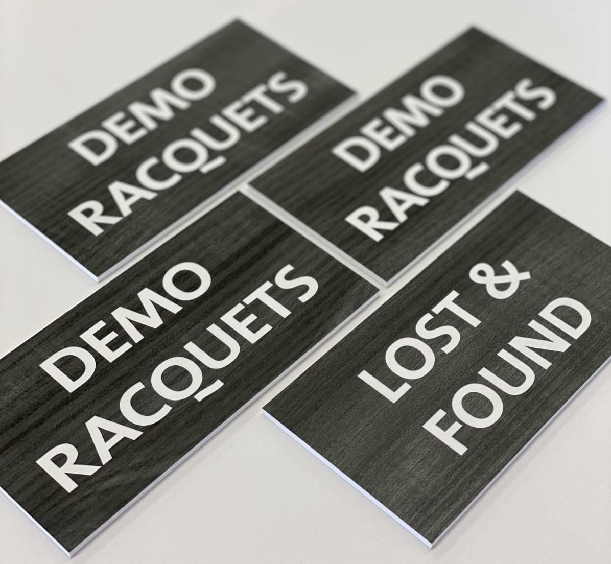 Demo Racquets ADA Signage