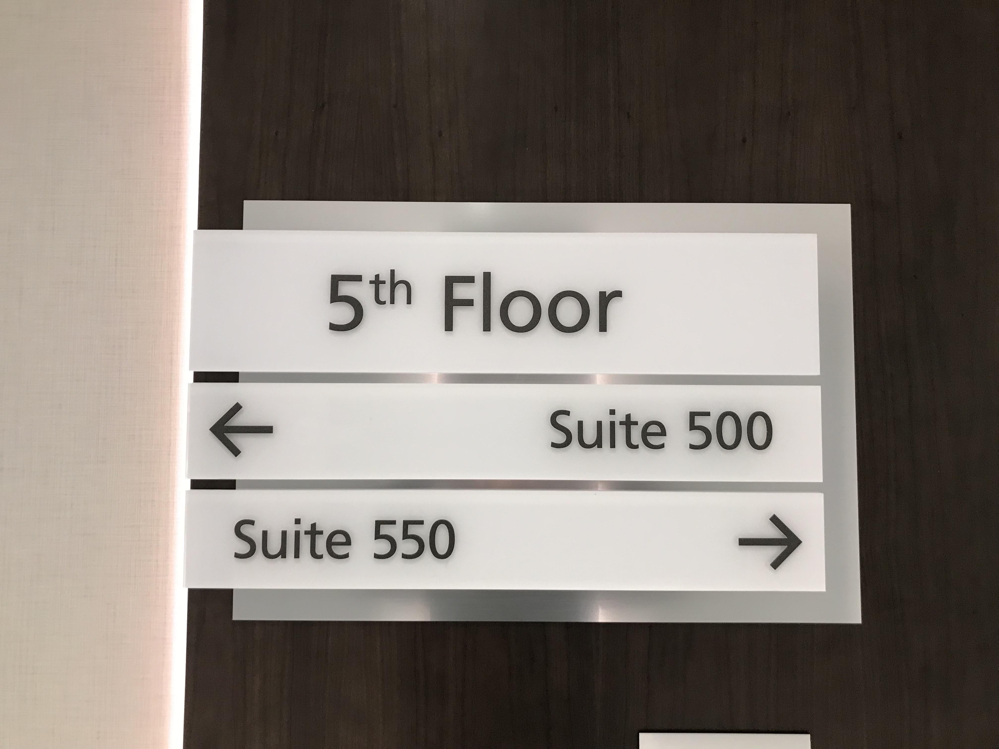 Hallway Wayfinding Sign