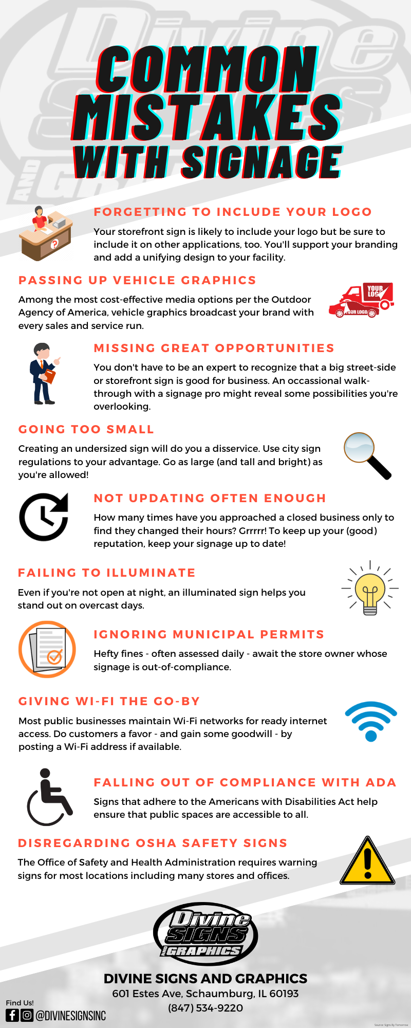 Common Mistakes With Signage - INFOGRAPHIC