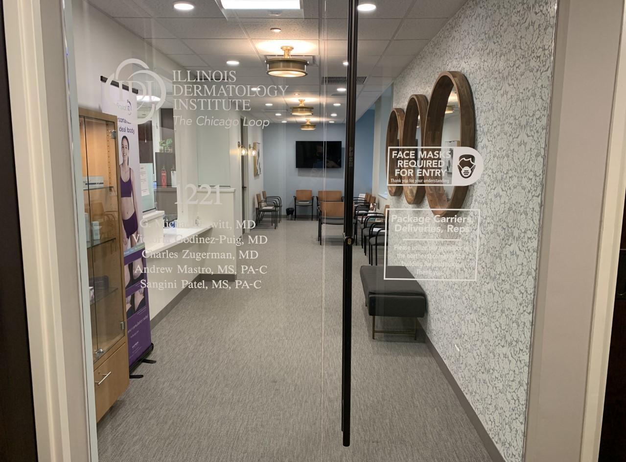 Illinois Dermatology Institute Window Graphics