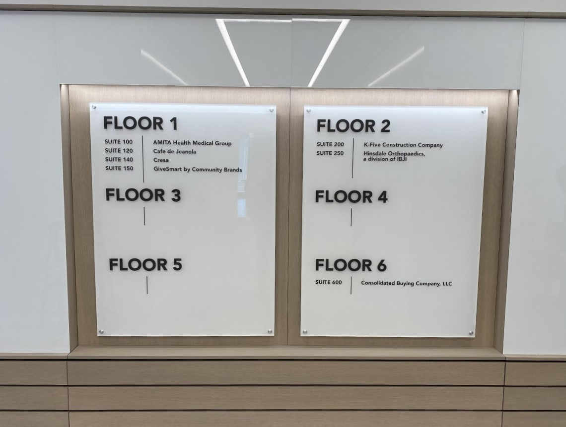 Directional Floors Sign