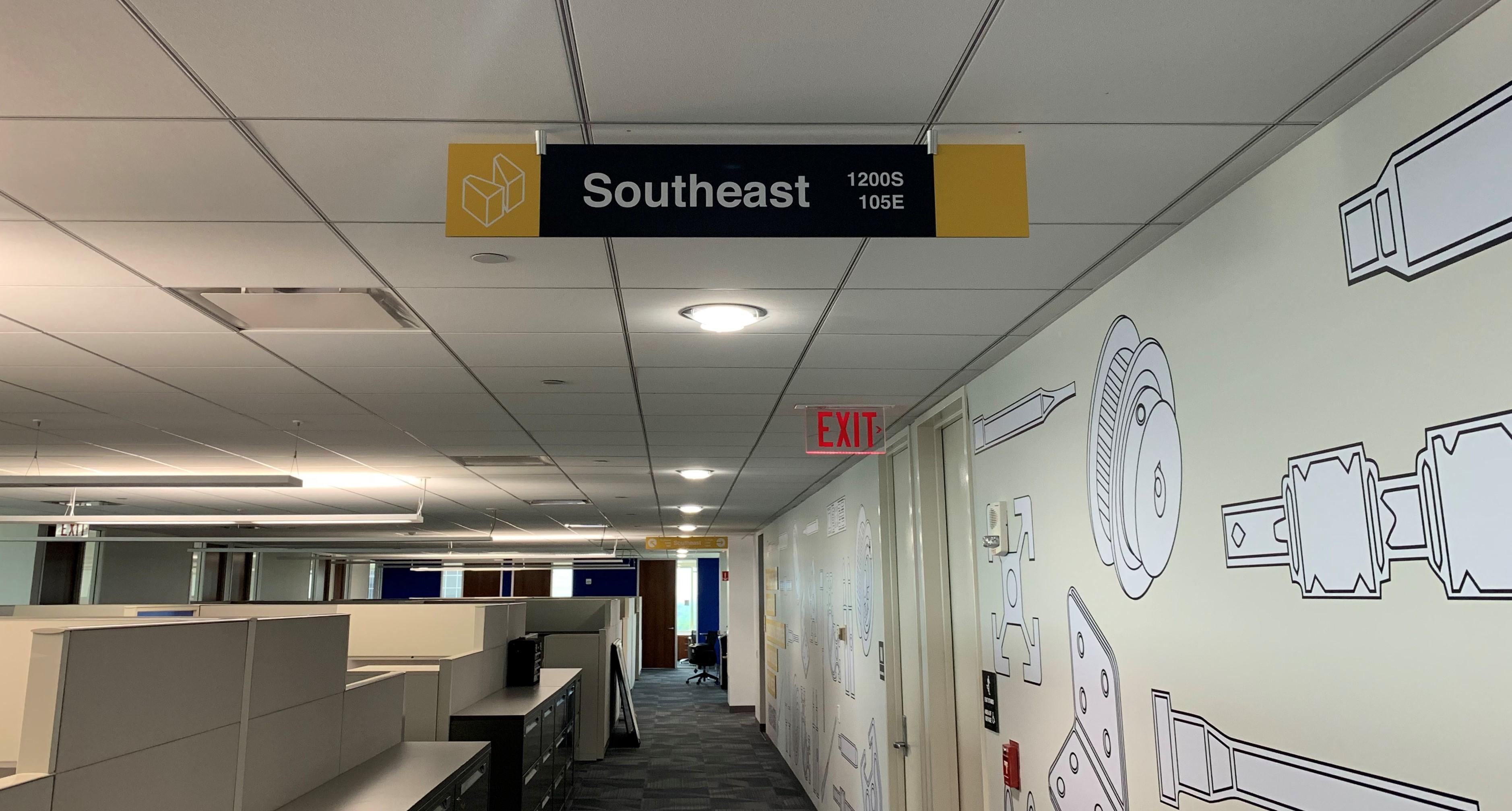 Southeast Wayfinding Sign