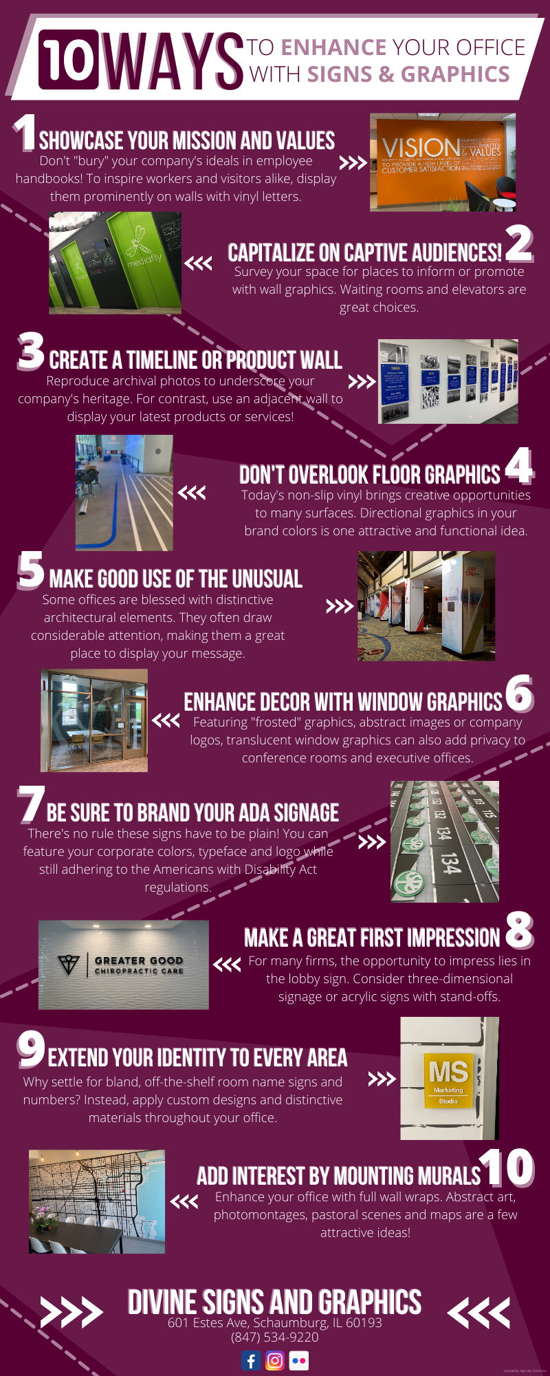 10 Ways To Enhance Your Office With Signs And Graphics