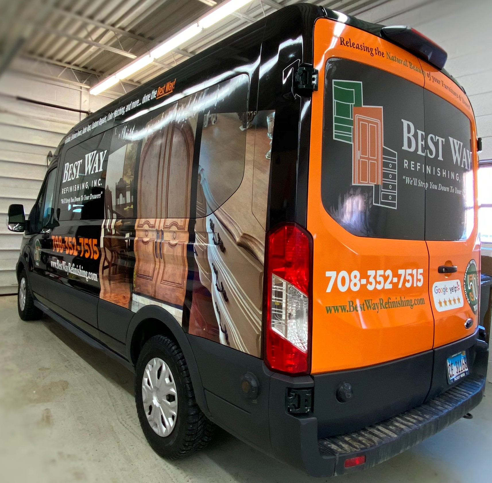 Best Way Refinishing Van Wrap