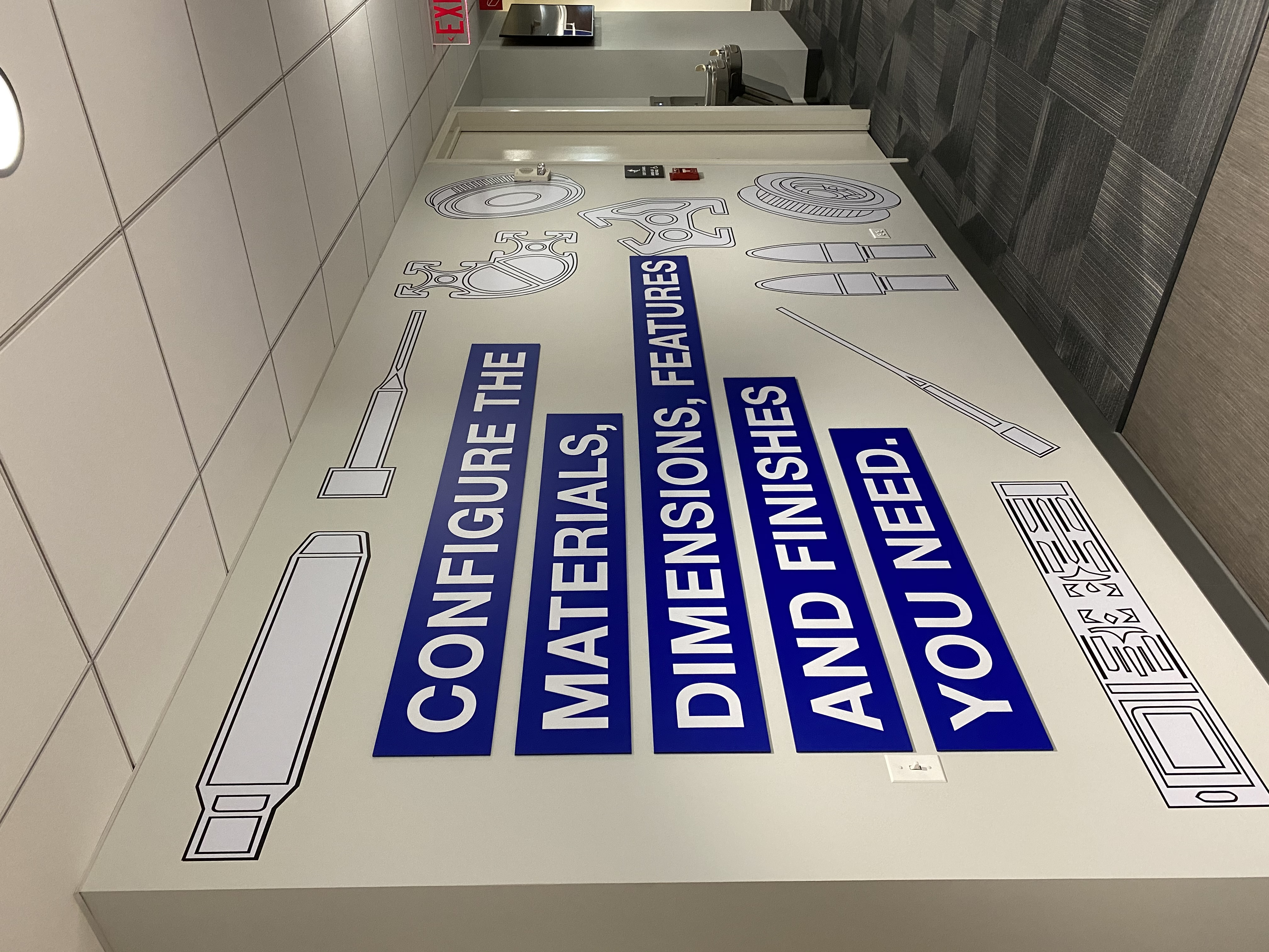 Manufacturing Materials Wall Signs
