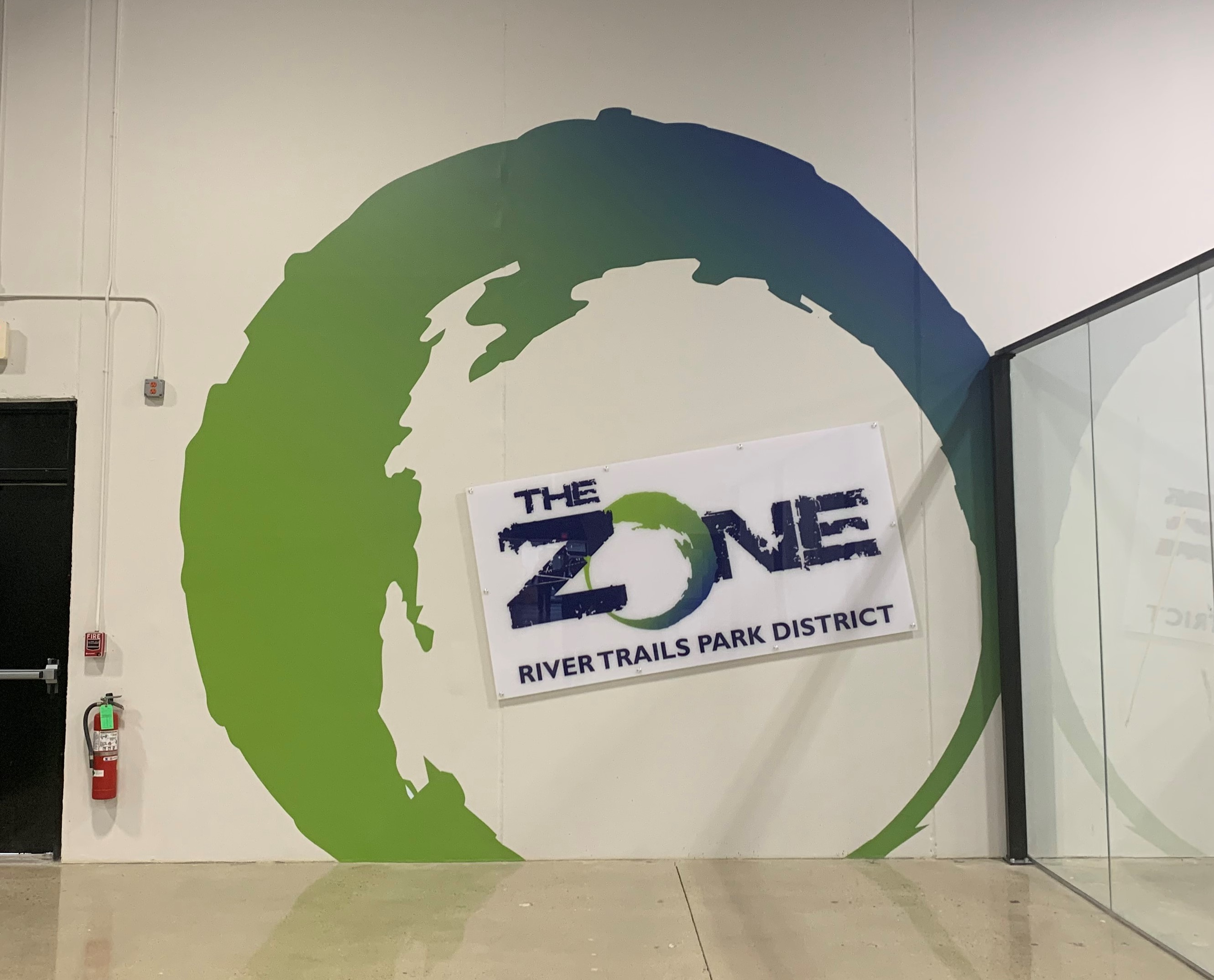 The Zone Wall Graphic
