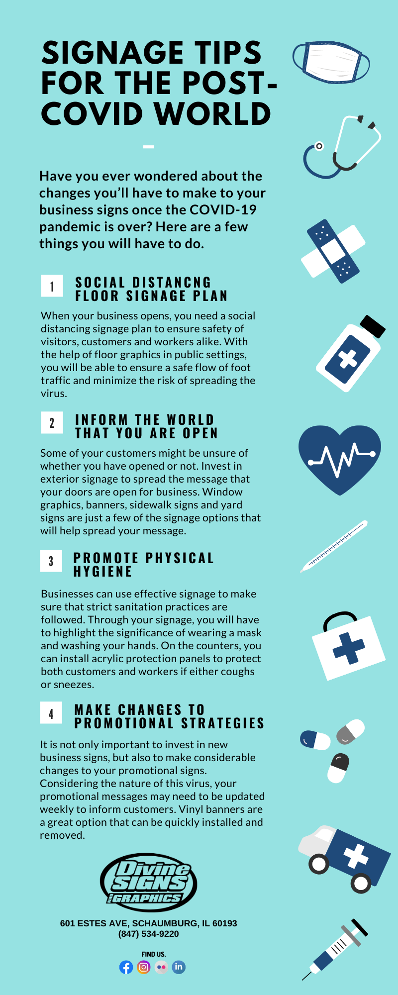 4 Signage Tips For The Post-COVID World - Infographic