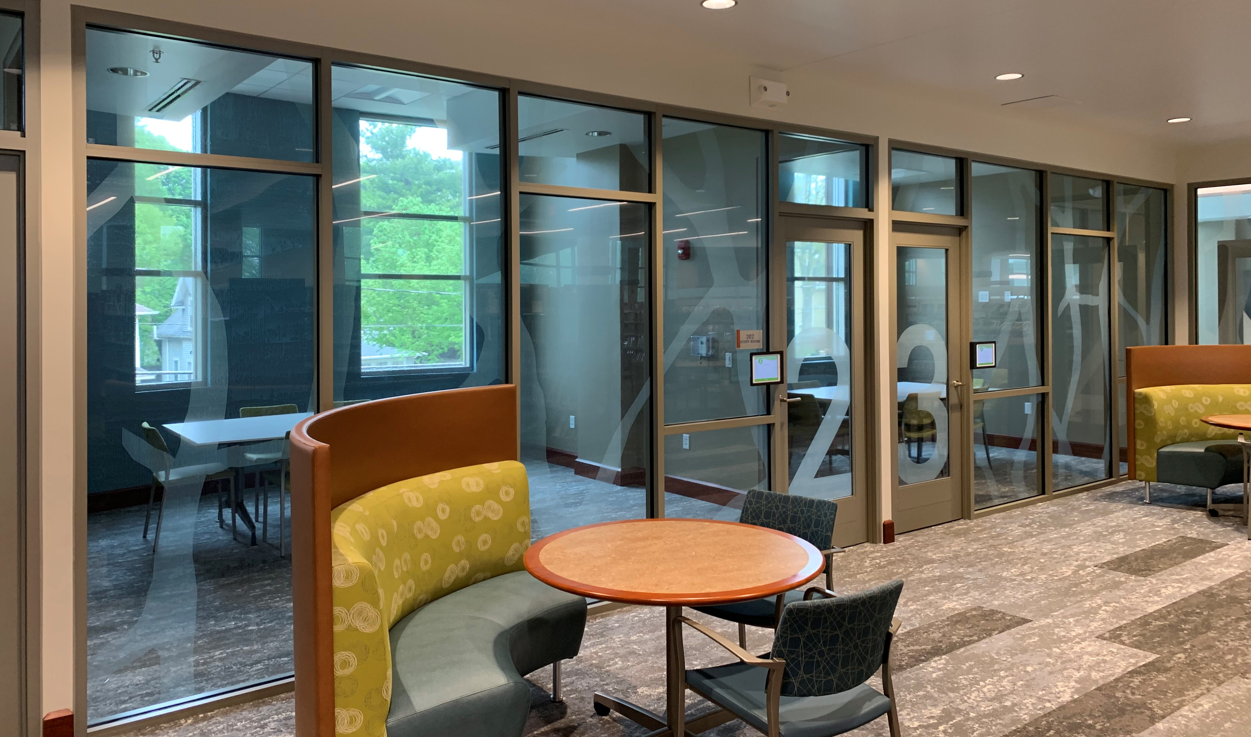 Window graphics in office space