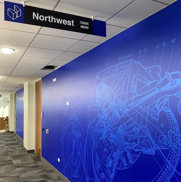 Blue Northwest Wayfinding Sign