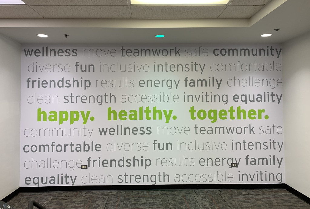 Happy. Healthy. Together. Wall Sign