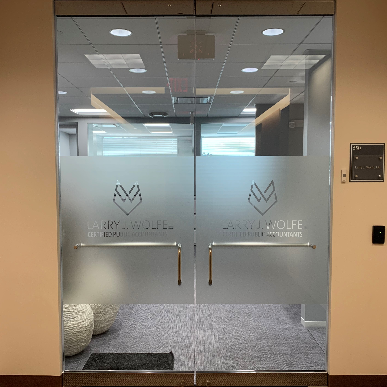 Lobby Door Window Graphic