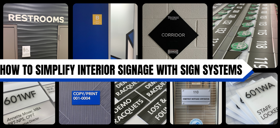 How To Simplify Interior Signage With Sign Systems