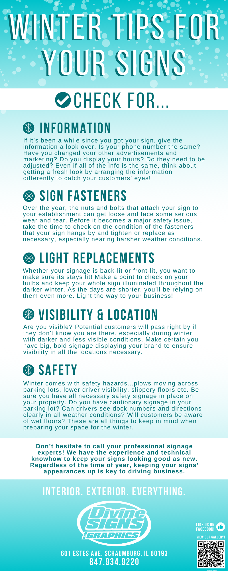 WINTER TIPS FOR YOUR SIGNS