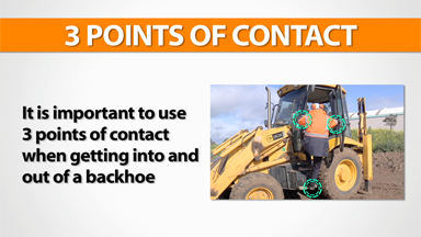 3 Points Of Contact: Backhoe